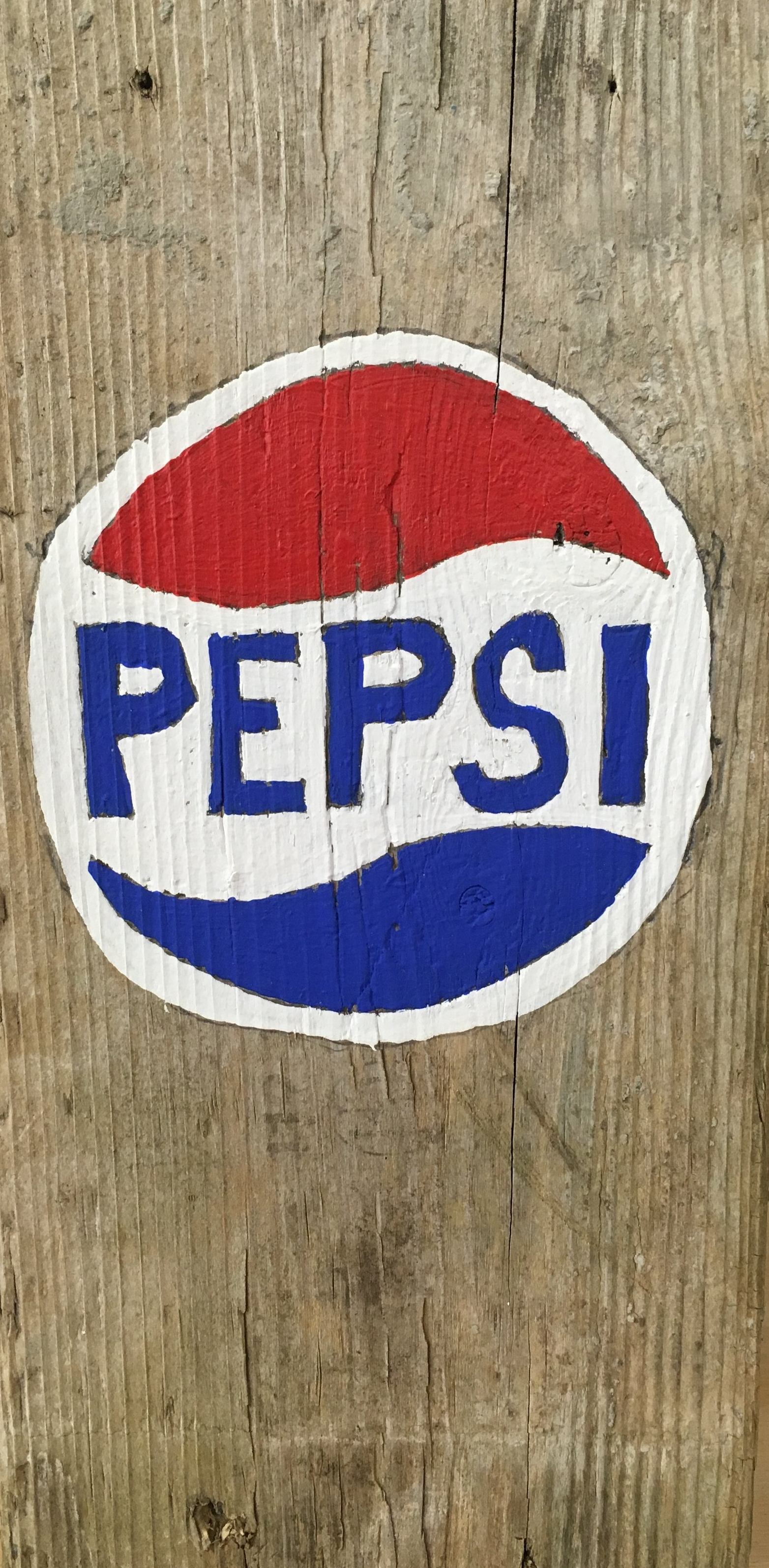 Romas Astrauskas,Untitled (Pepsi), 2017, acrylic on wood, 11 X 5.5 inches
