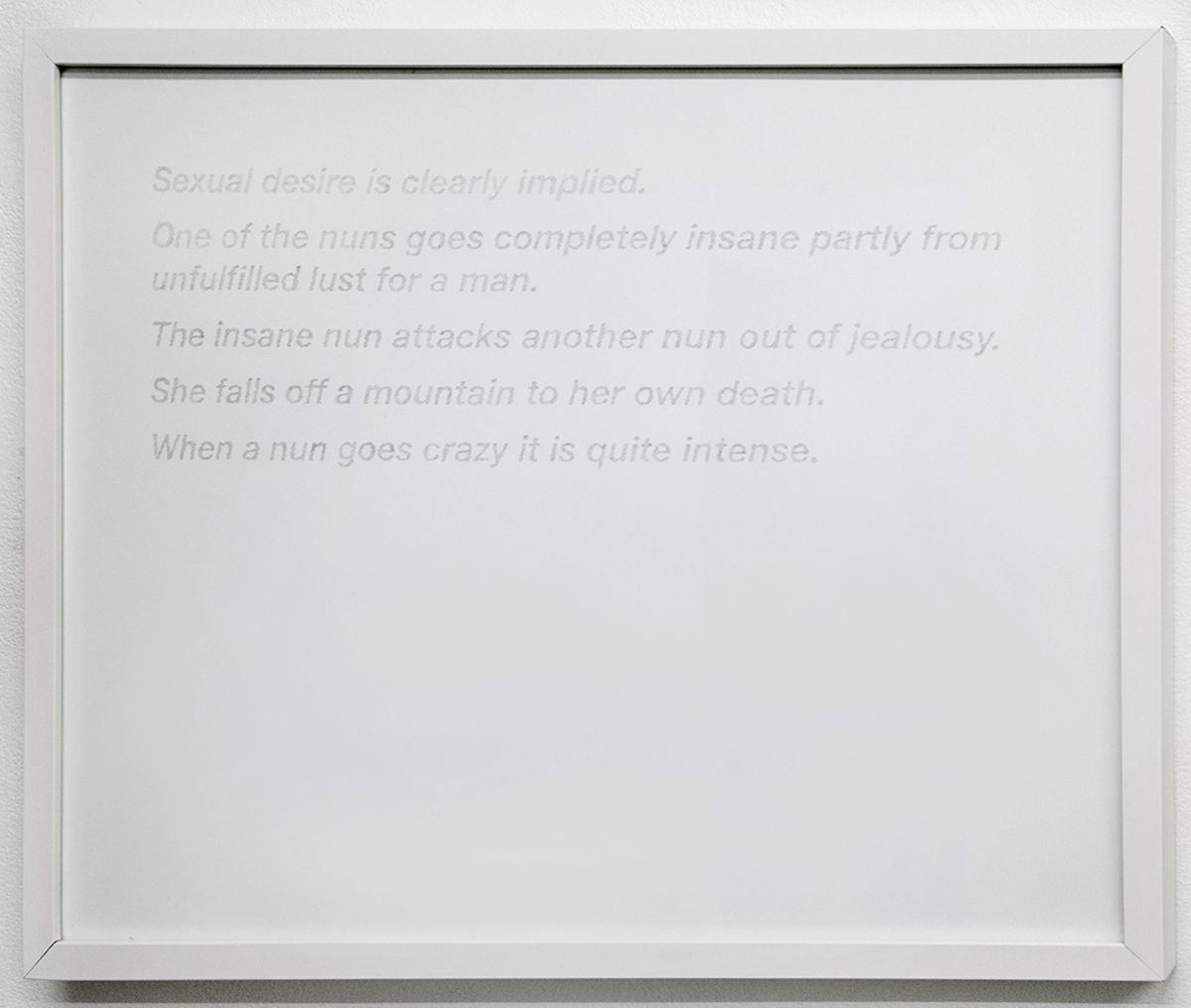 "Black Narcissus, 2015, 16""x20"" graphite on paper."