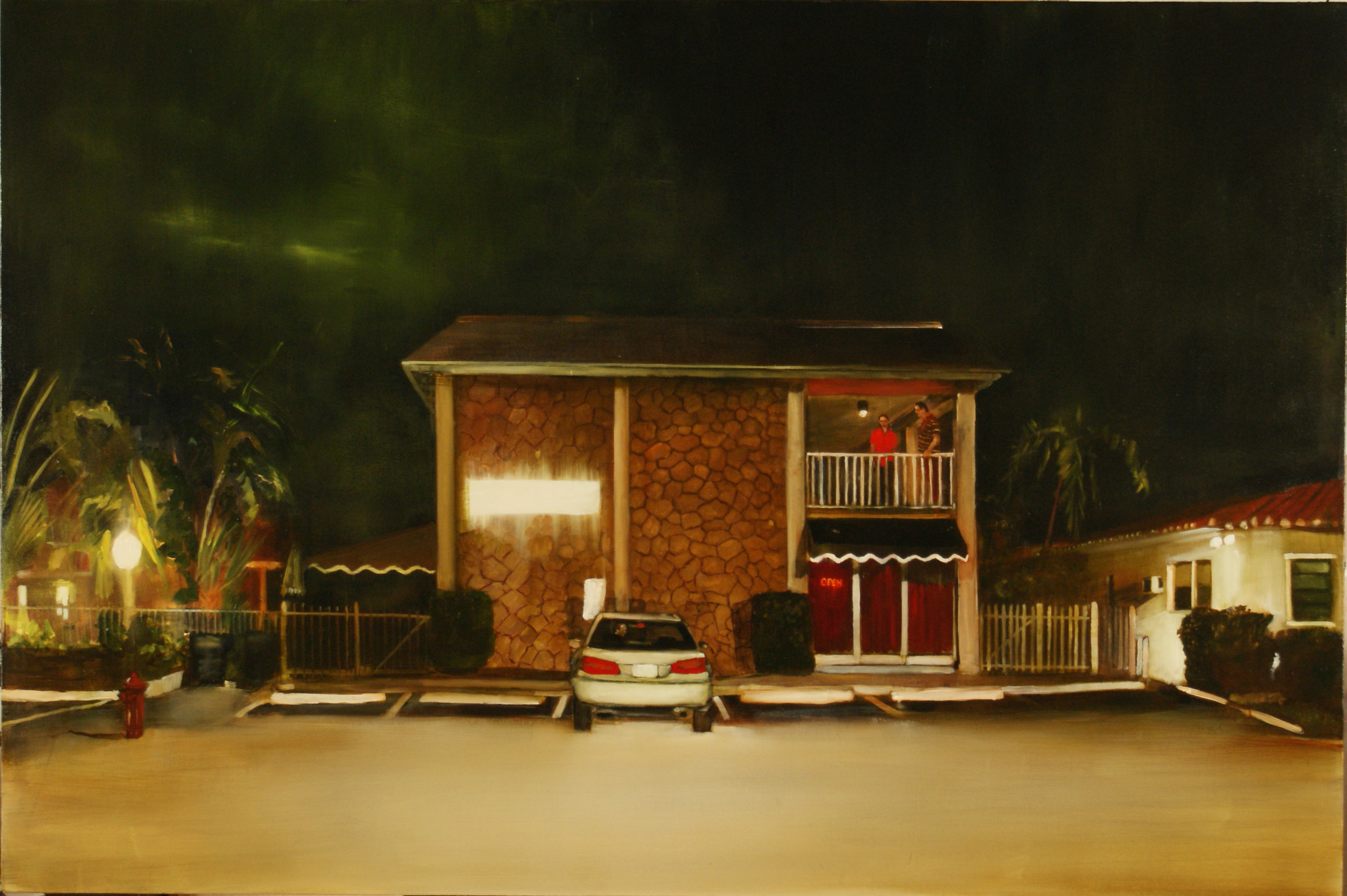 "A1A Noir,  2012, 48"" x 72"", oil on canvas on panel SOLD"