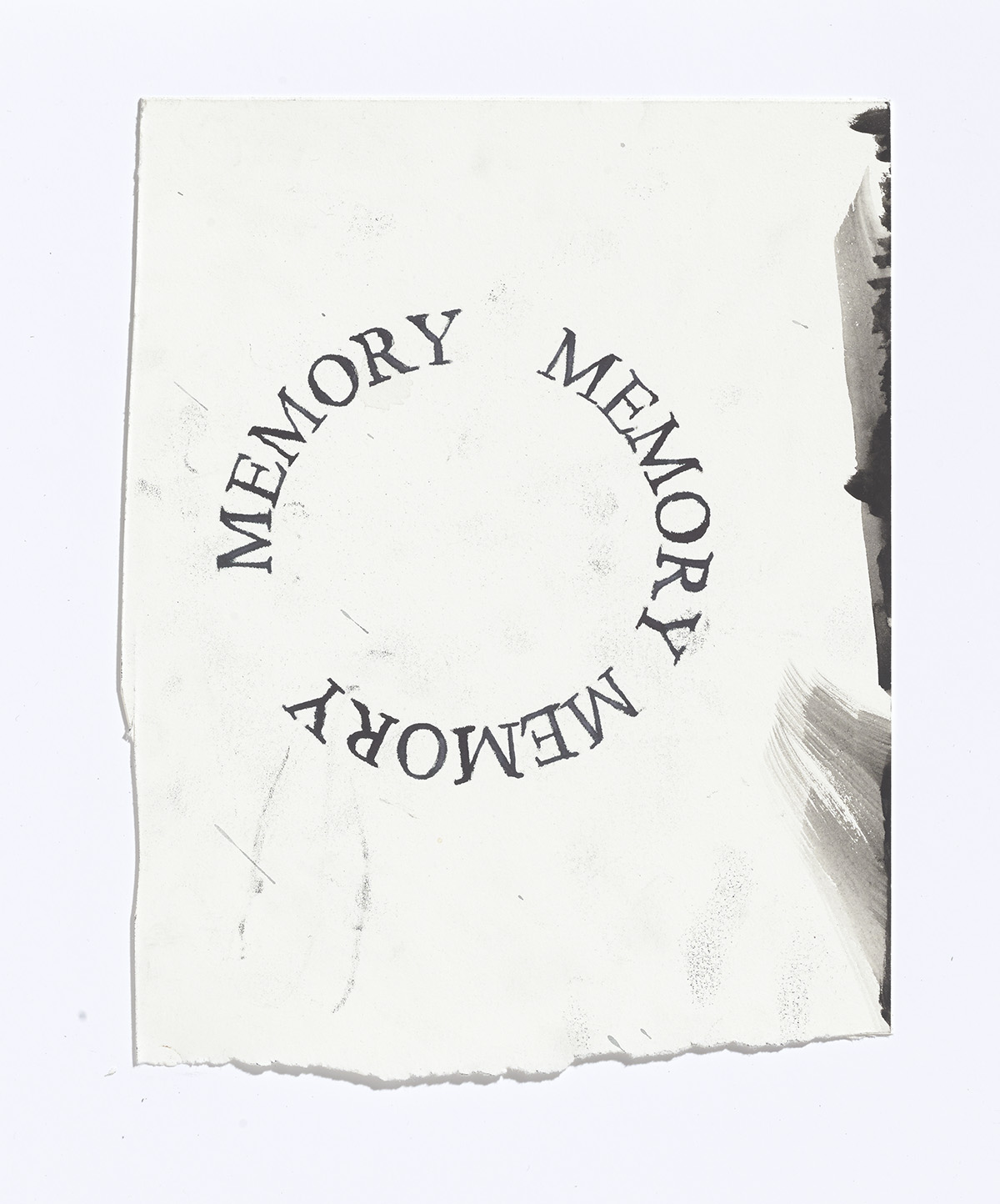 Memory, Memory, Memory, 2017, ink, gouache and pencil on paper,8.25 x 6.5 in.$800 CAD $650 USD