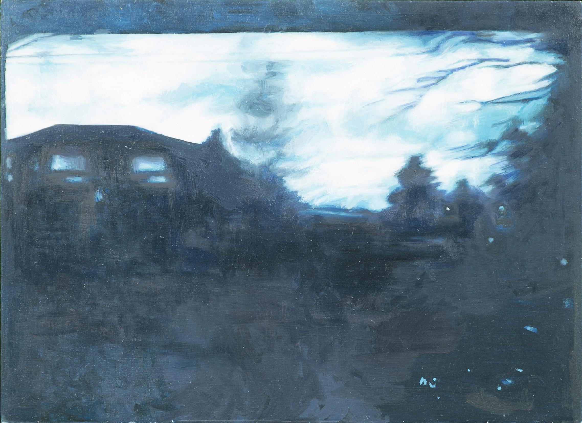 Bleak House, 2015, oil on wood, 9 x 11 in.