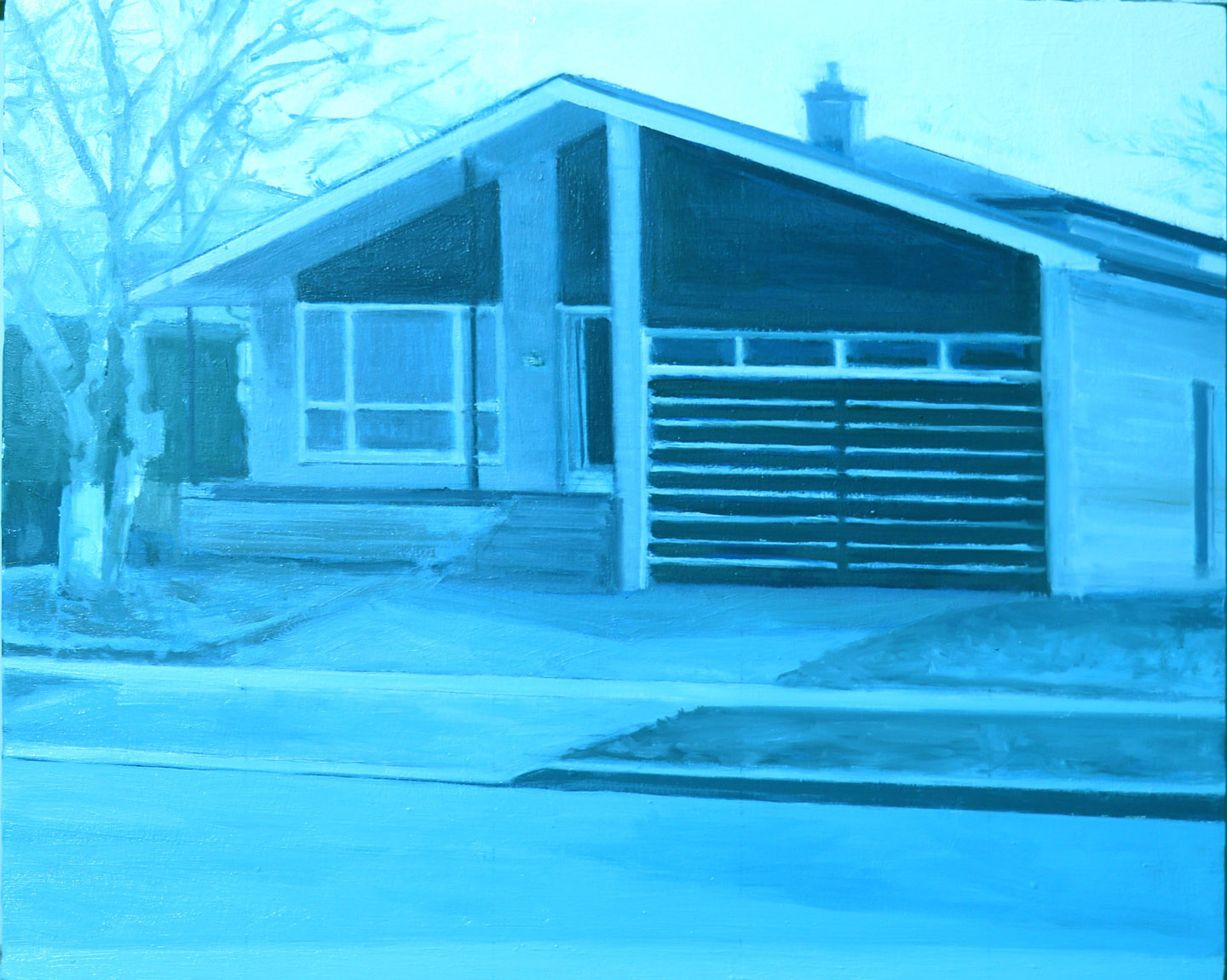 Suburban House 2, 2017, oil on wood, 8 x 10 in.