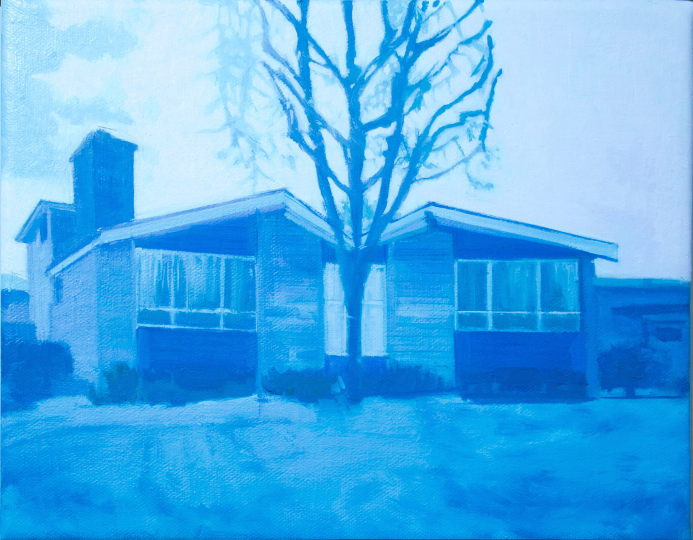 Suburban House 3, 2017, oil on canvas, 8 x 10 in.
