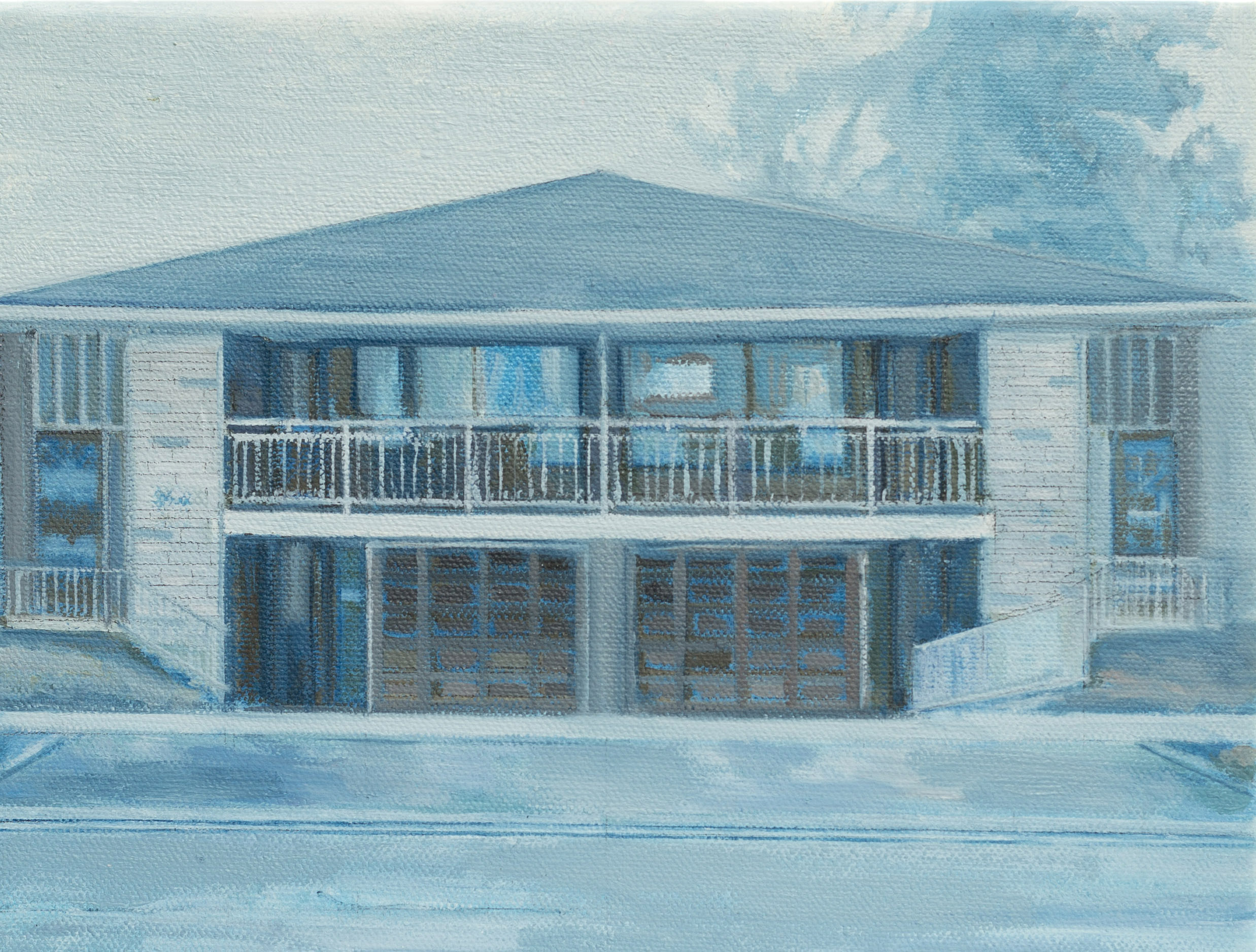 Suburban House, 2015, oil on canvas, 8 x 10 in.