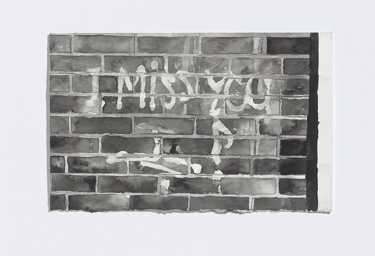 I miss you, 2017,watercolour on paper,7 1/8 x 11 inches $1100 CAD $900 USD