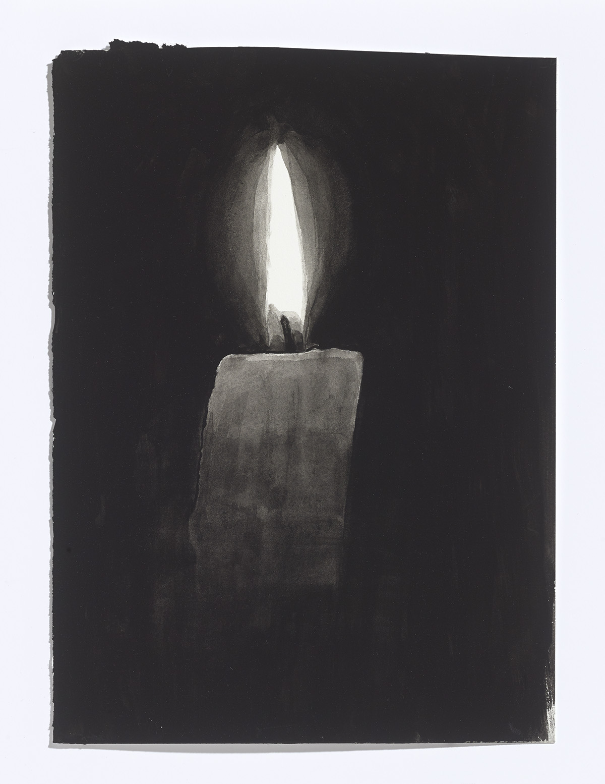 Candle,2017,gouache on paper,10 7/8th x 8 inches $1100 CAD $900 USD
