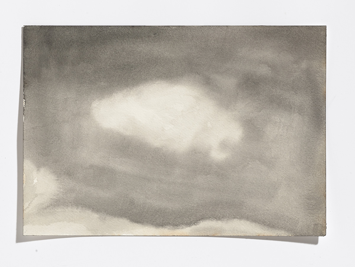 Rusty cloud,2017,gouache on paper,7-1/8th x 10-¼ inches $900 CAD $750 USD