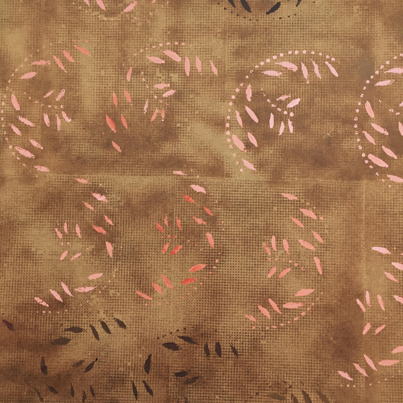 October #2 , varnish, acrylic on masonite, 2' x 2'