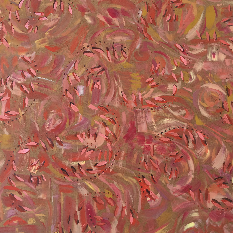 October #1 , acrylic on masonite,2' x 2'