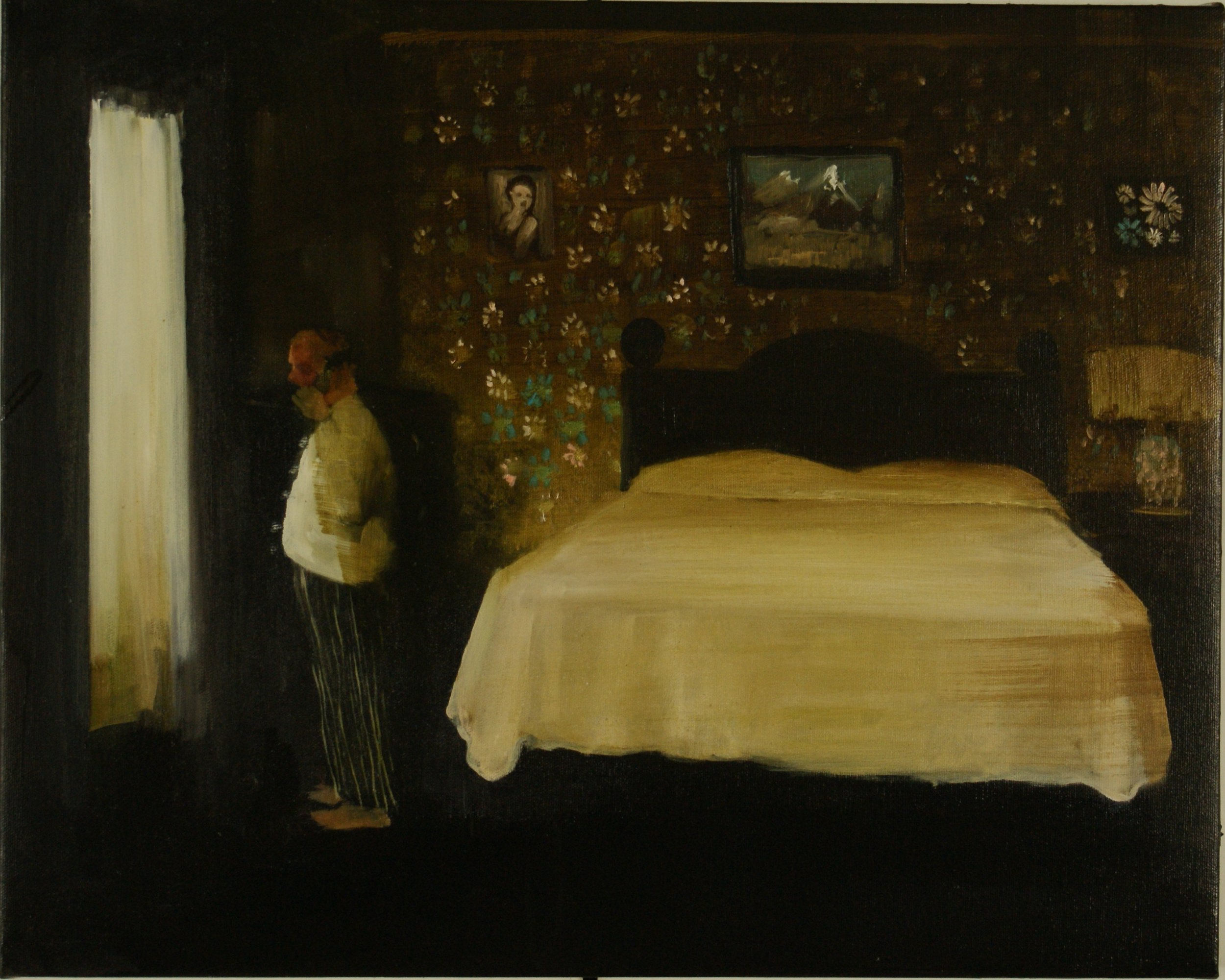 Short Man in his Room, 2014,oil on canvas, 16 x 20 inches SOLD
