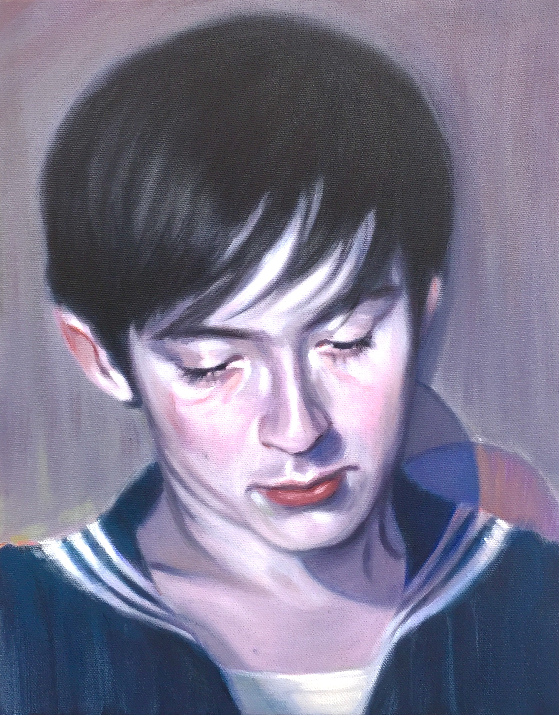 Kris Knight, Navy, 2017, oil on canvas, 14 x 11 inches