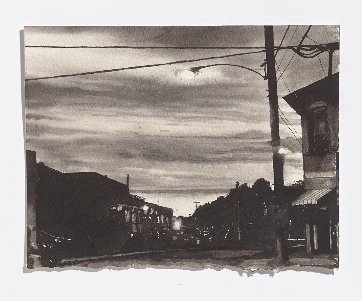 Aylmer Street,2017,ink on paper,8 x 10.25 in