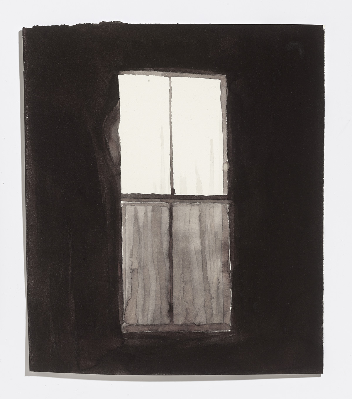 Closed window,2017,ink on paper, 13.25 x 11.25 in