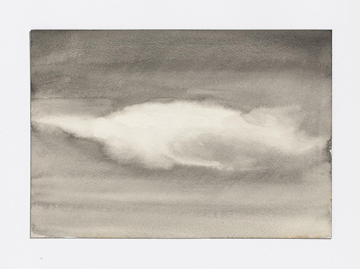 Rusty Cloud 2,2017,gouache on paper,7 1/8th x 10.25 in