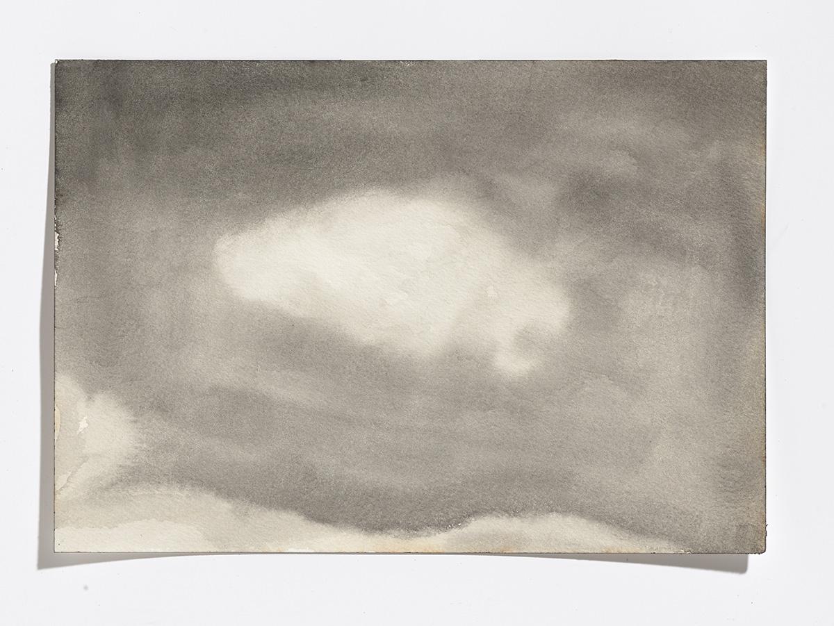 Rusty cloud,2017, gouache on paper, 7 1/8th x 10.25 in