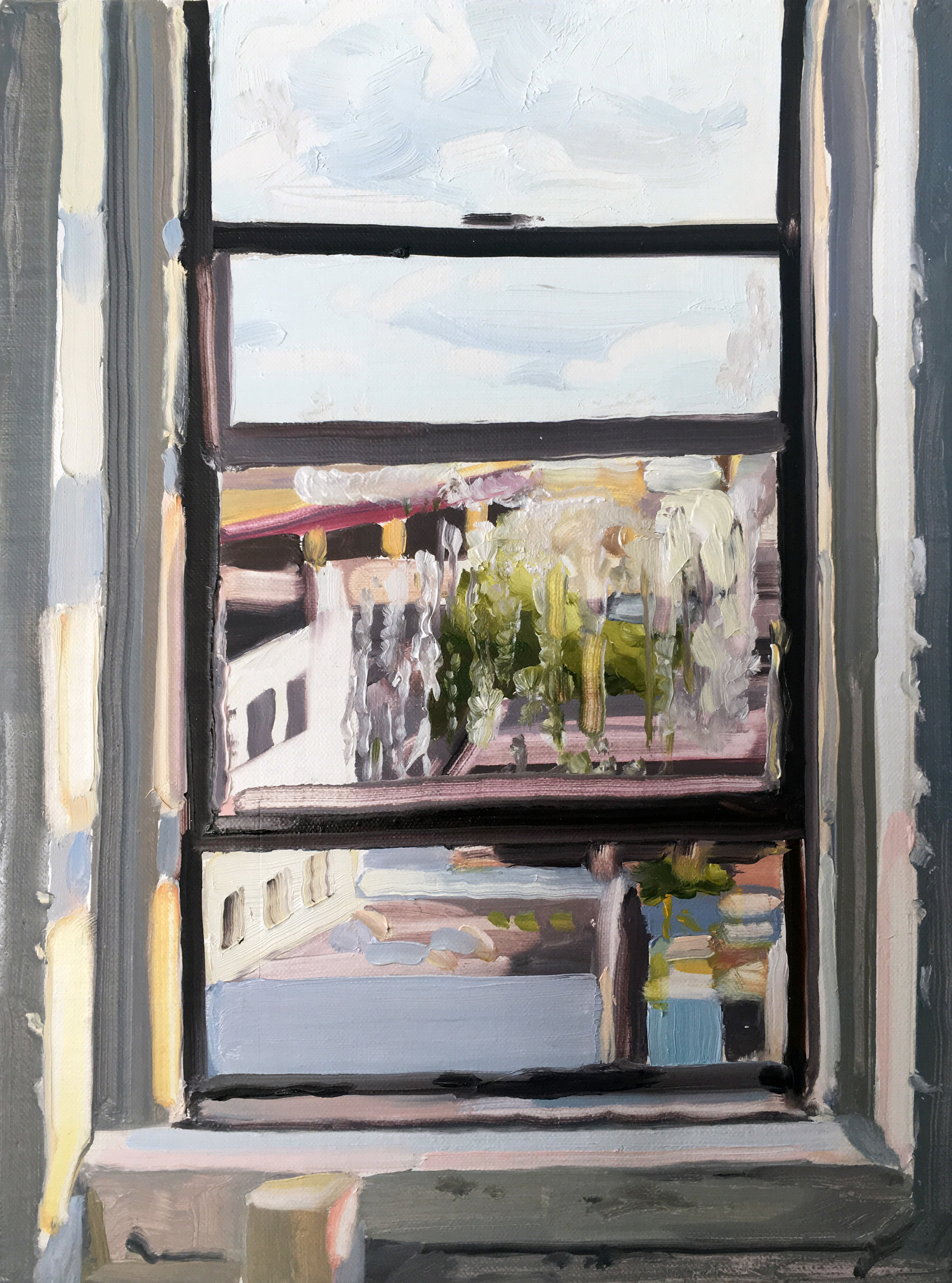 Day Window (8/24), 2017, oil on linen,12 x 9 inches