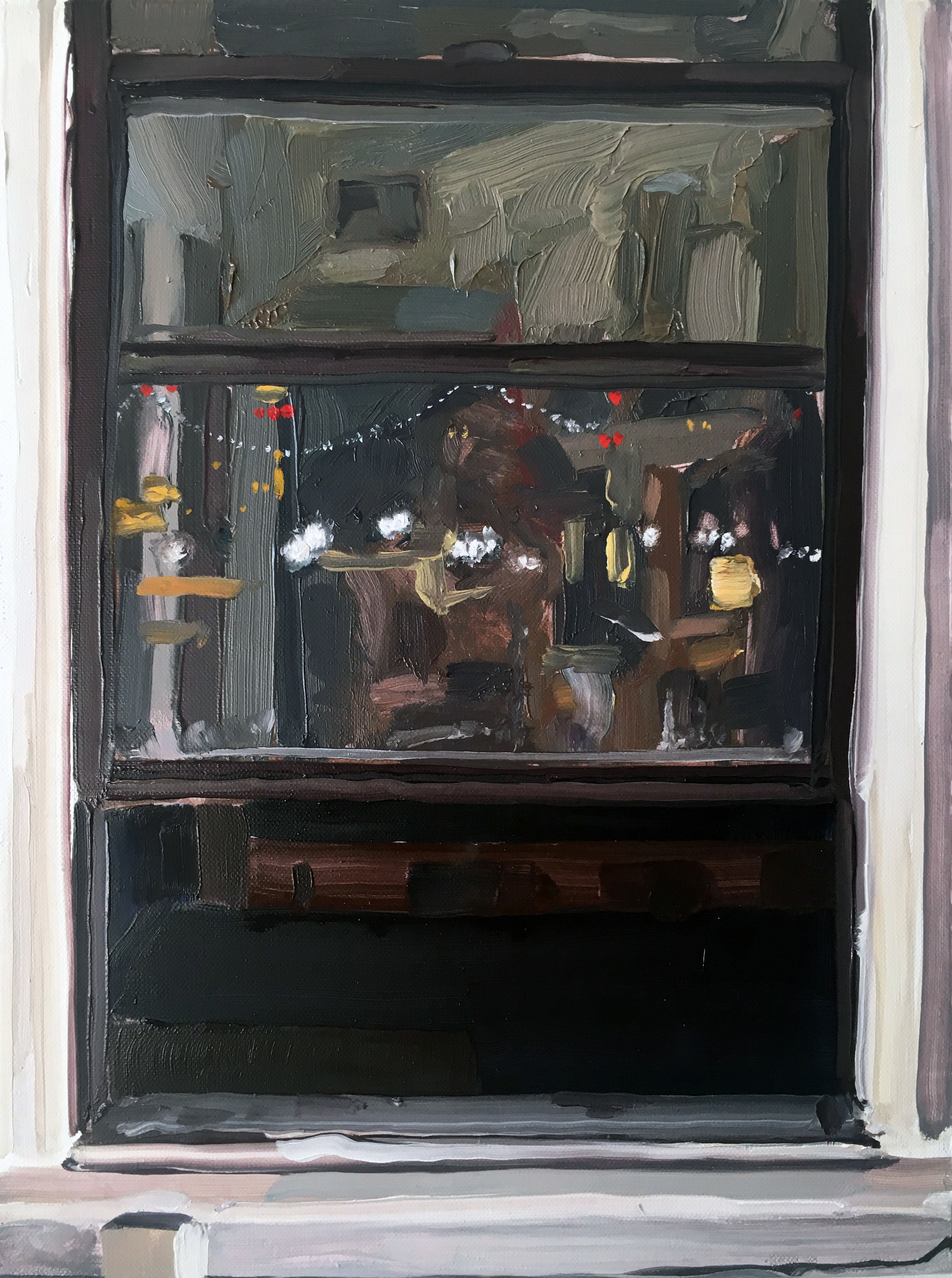 Night Window (6/30-7/1), 2017, oil on linen,12 x 9 inches