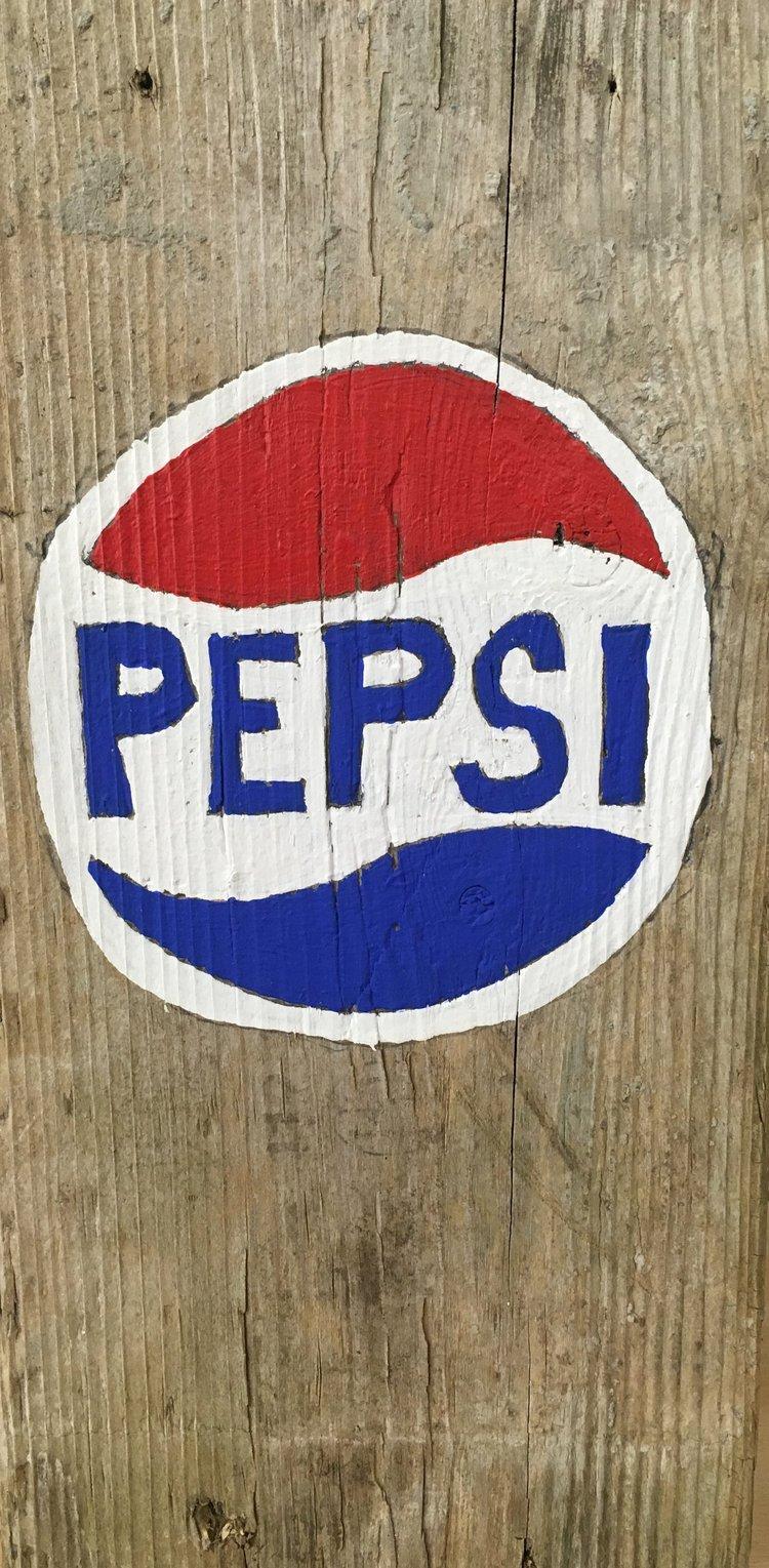 Untitled (Pepsi), 2017,acrylic on wood,11 x 5.5 in