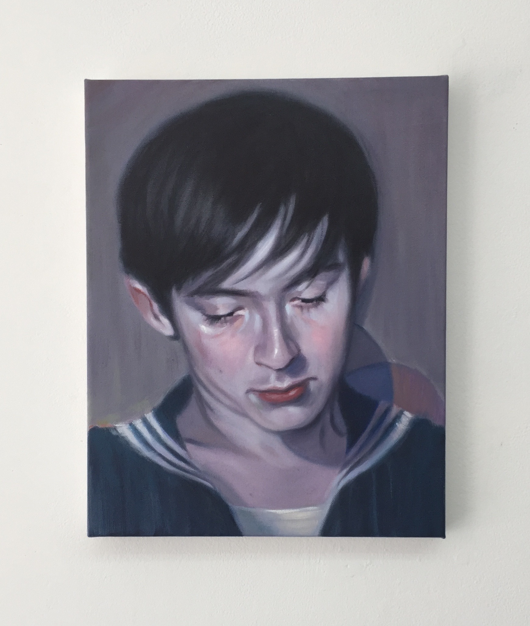 Navy, 2017,oil on canvas,14 x 11 inches