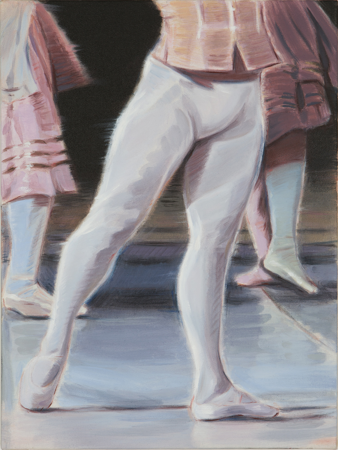 Kris Knight, Front Row (VPL) , 2017, oil on canvas, 16 x12 inches