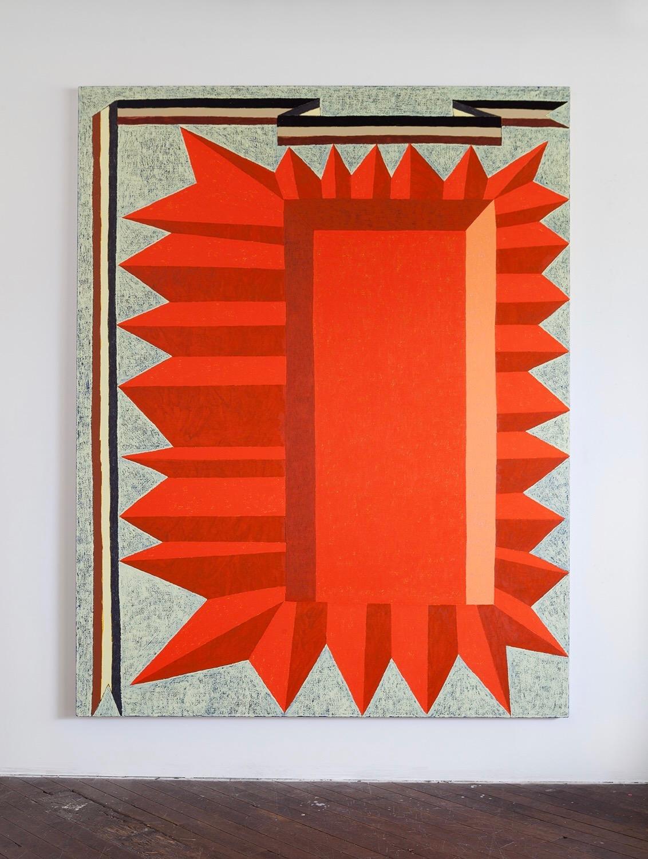 Matt Kleberg, Big Star Falling, 2017, oil stick on canvas, 100 x 78 inches