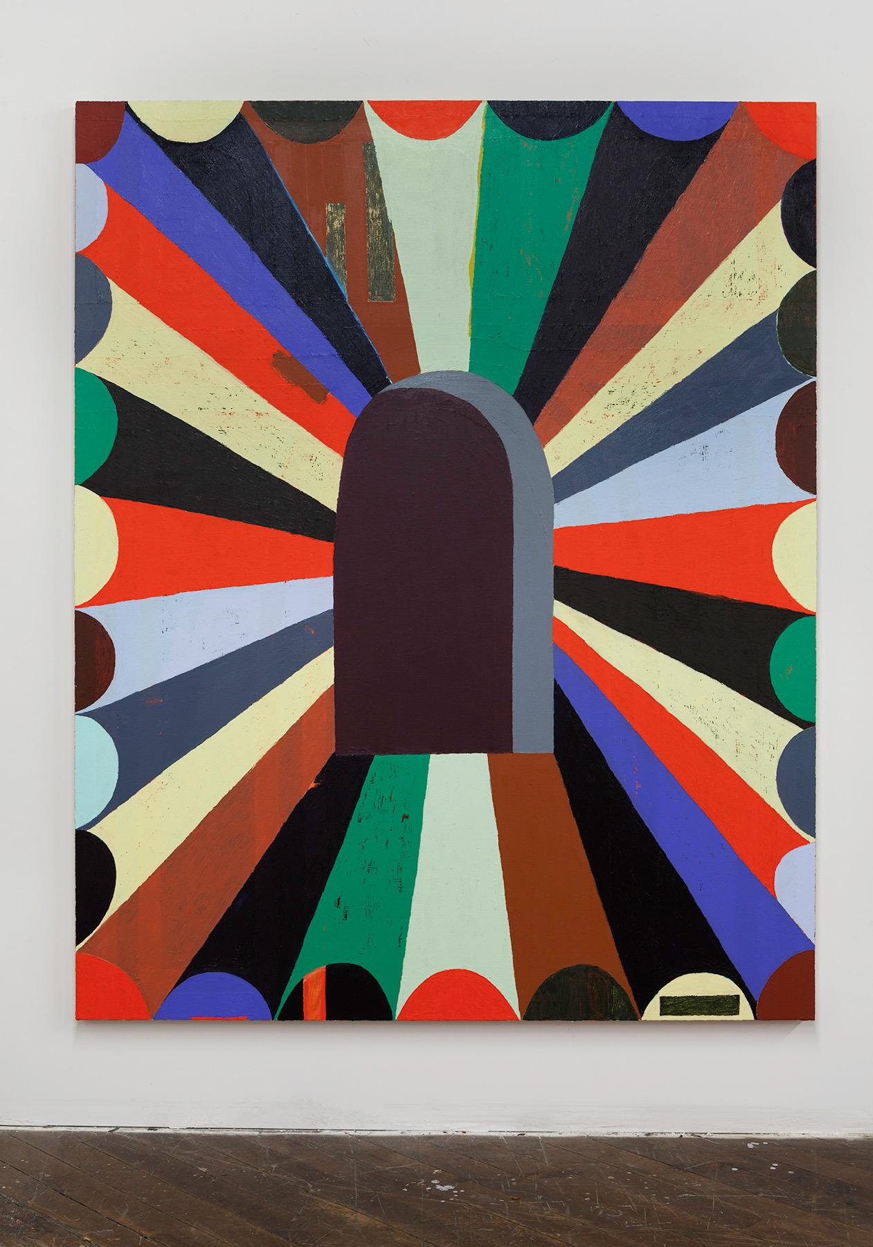 Matt Kleberg,37th Hour,2017,oil stick on canvas,72 x 58 inches