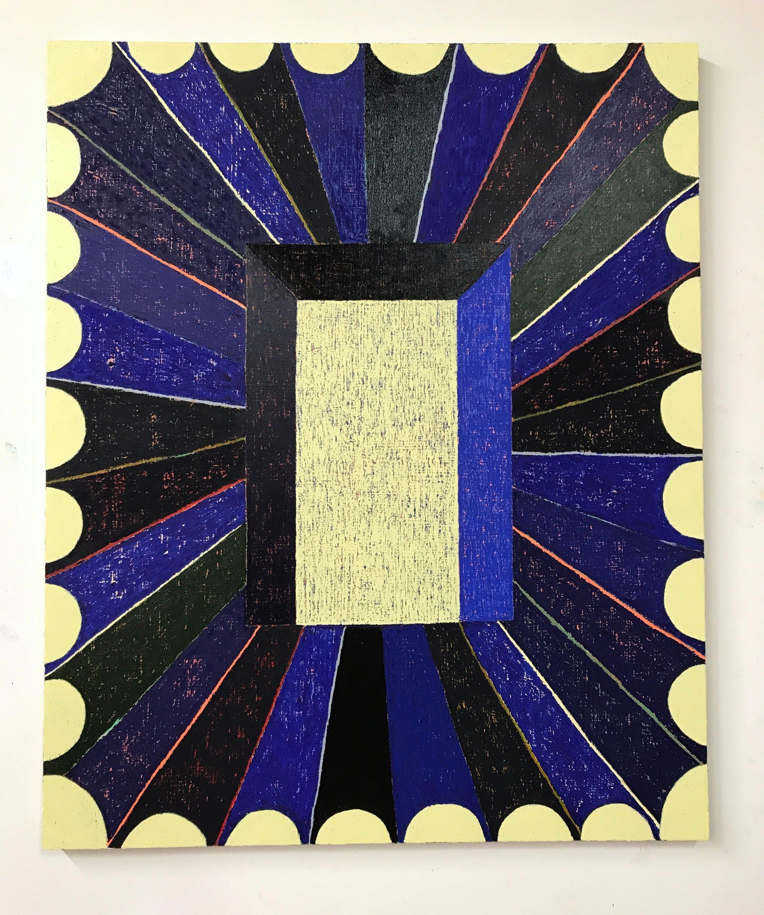 Matt Kleberg,Split Timbre,2017,oil stick on canvas,44 x 36 inches