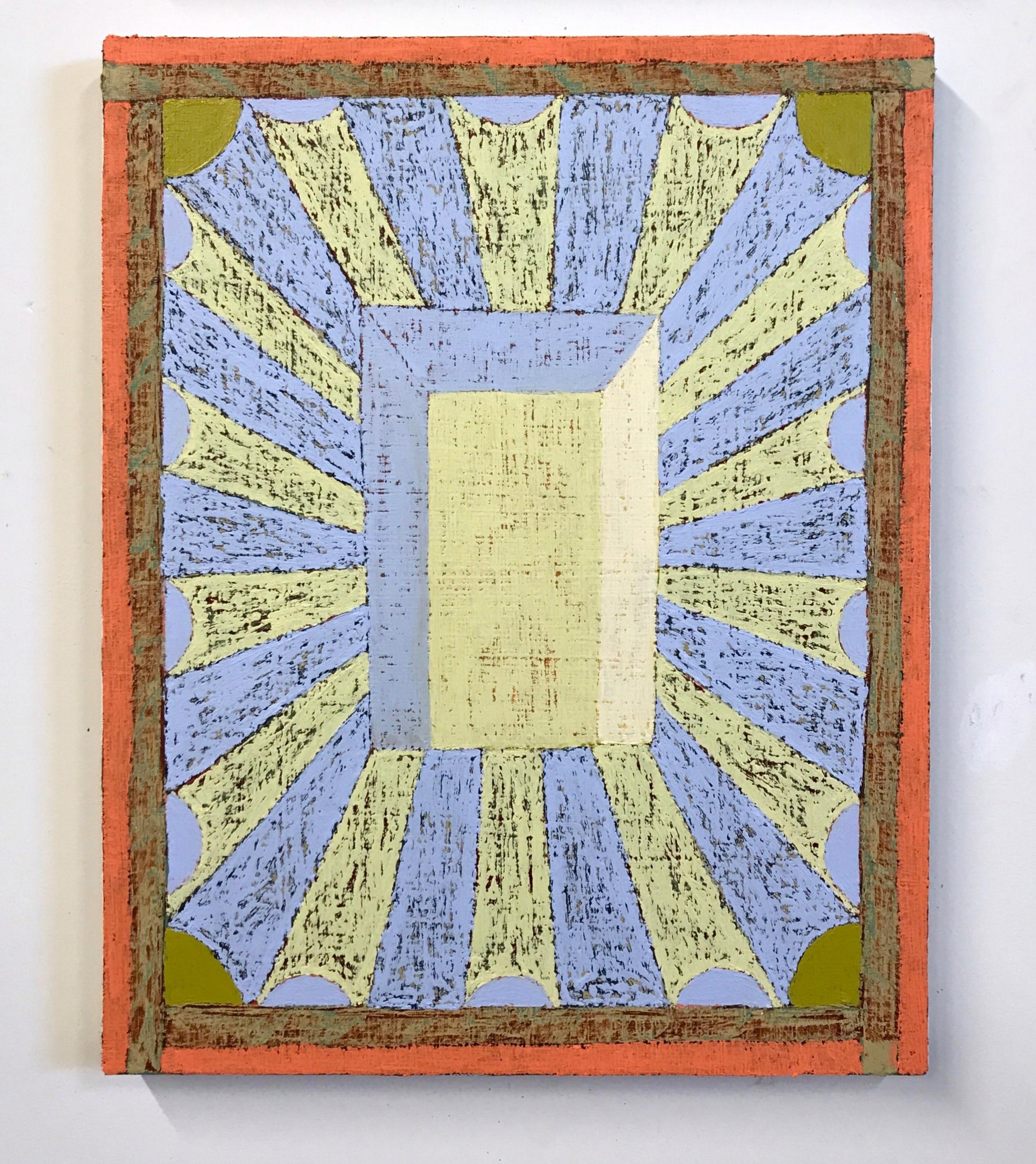 Matt Kleberg,Pale Hiss,2017,oil stick on canvas,20 x 16 inches