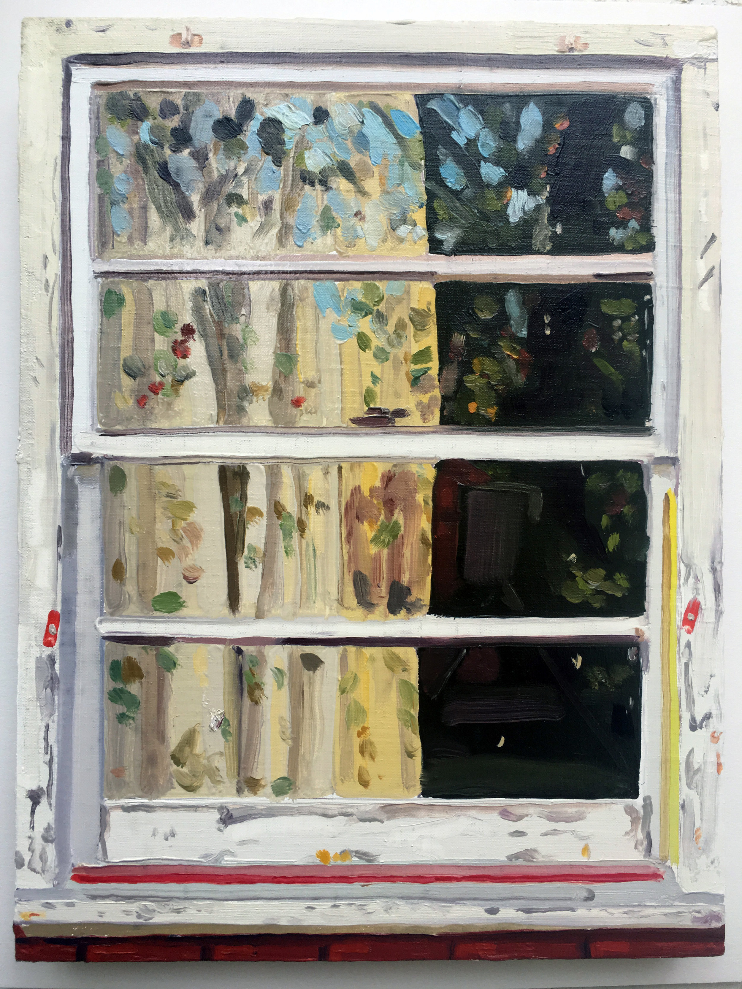 Keiran Brennan Hinton, Front Window , 2017, oil on linen, 12 x 9 inches  SOLD