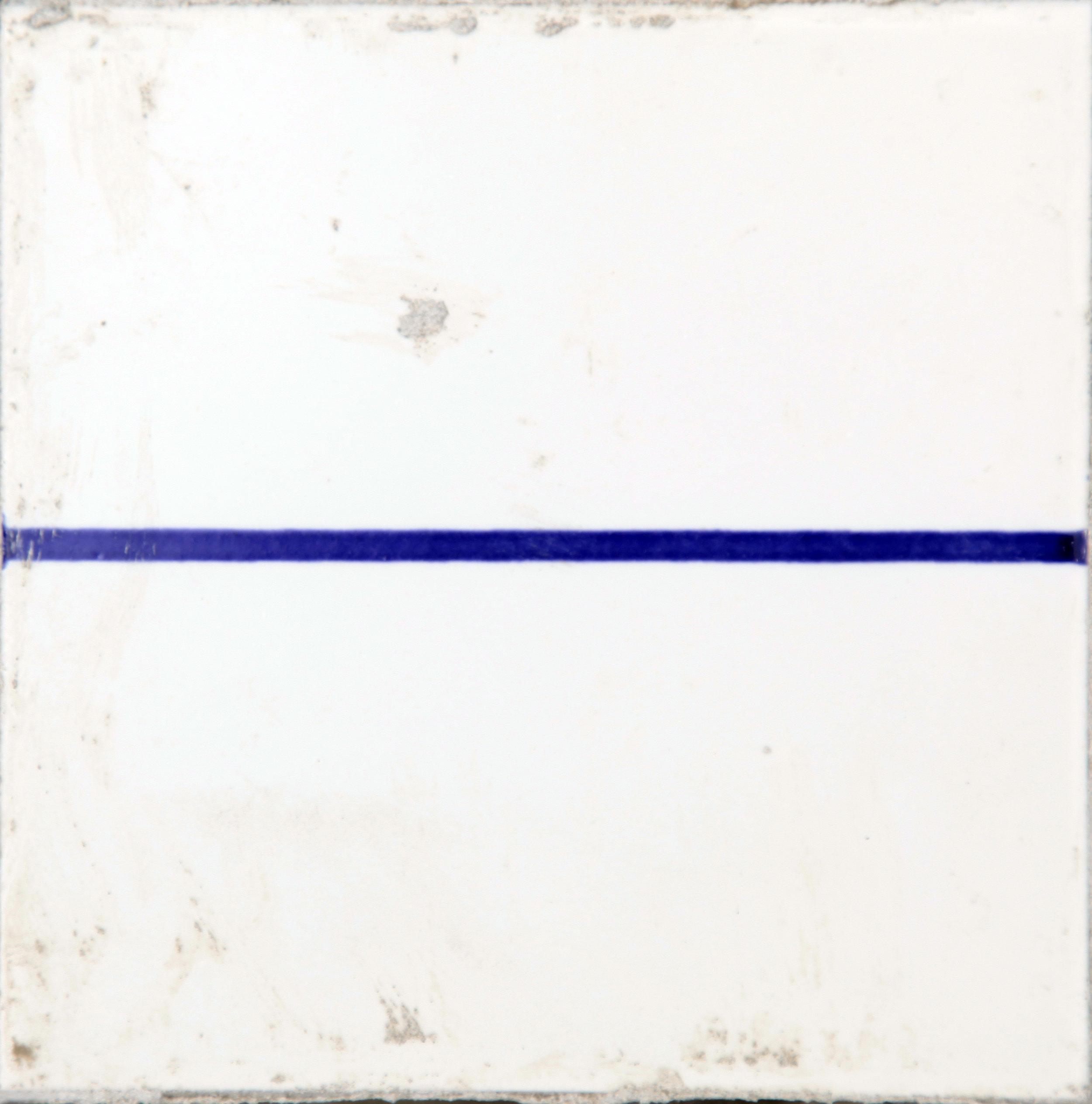 C.J. Chueca,  Body Horizon,  2016, ceramic tile and wood, 6 x 6 x 2 ½ inches SOLD