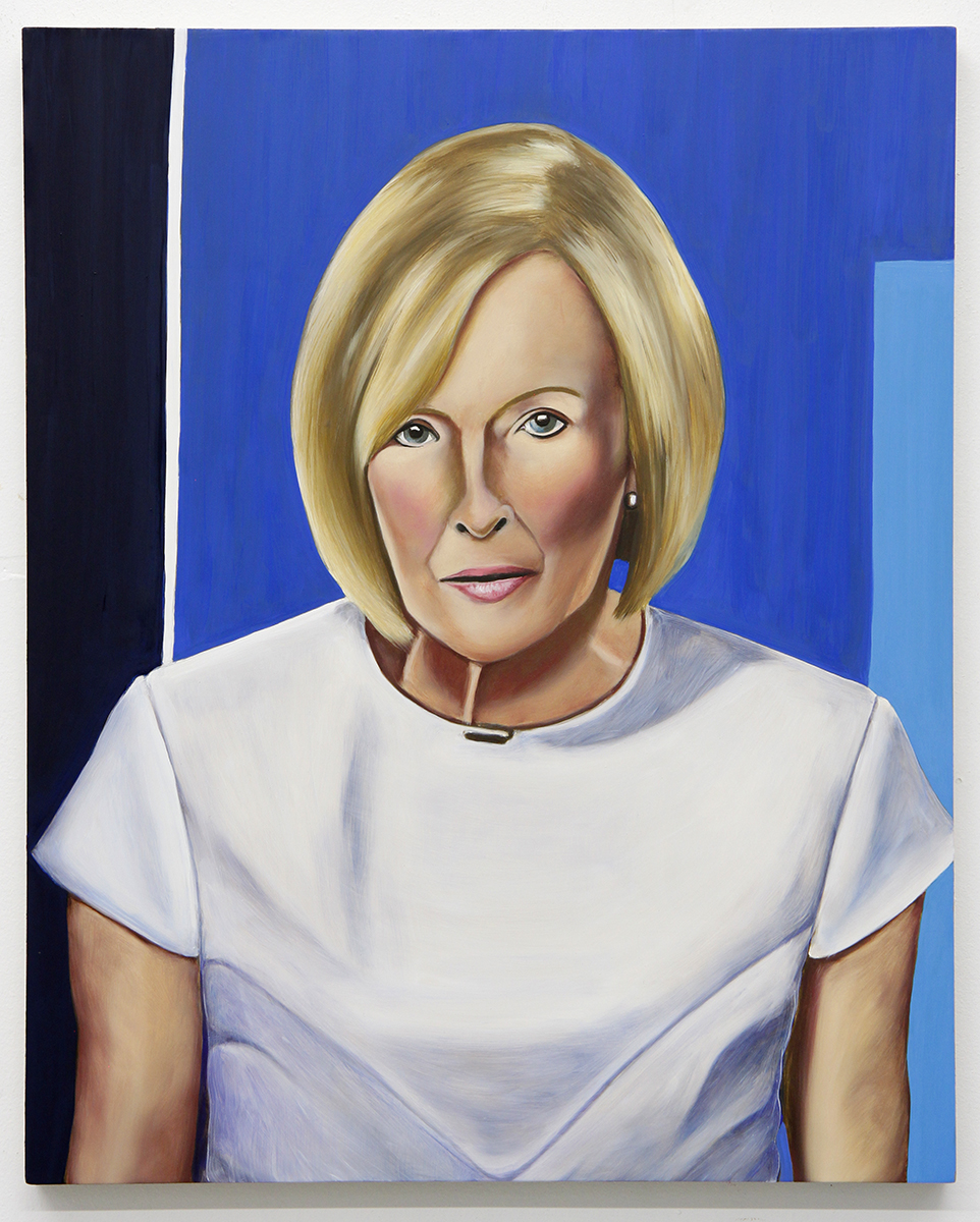 Emily Roz, Judy Woodruff, PBS Newshour, 2018, oil on panel, 20 x 16 inches