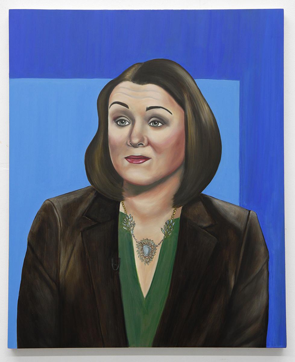 Emily Roz, Tamara Keith, 2018, oil on panel, 20 x 16 inches