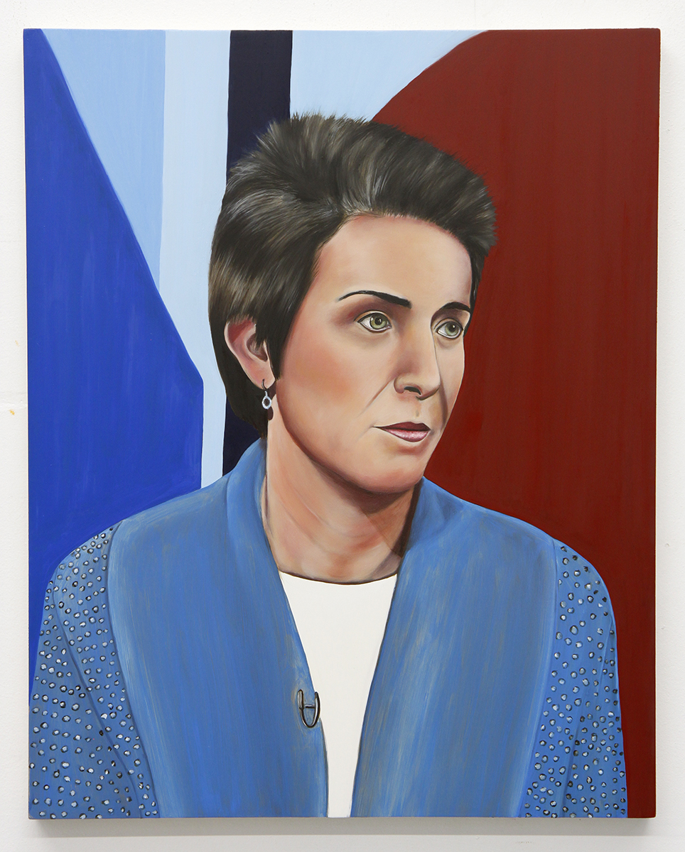 Emily Roz, Amy Walter, PBS, 2018, oil on panel, 20 x 16 inches