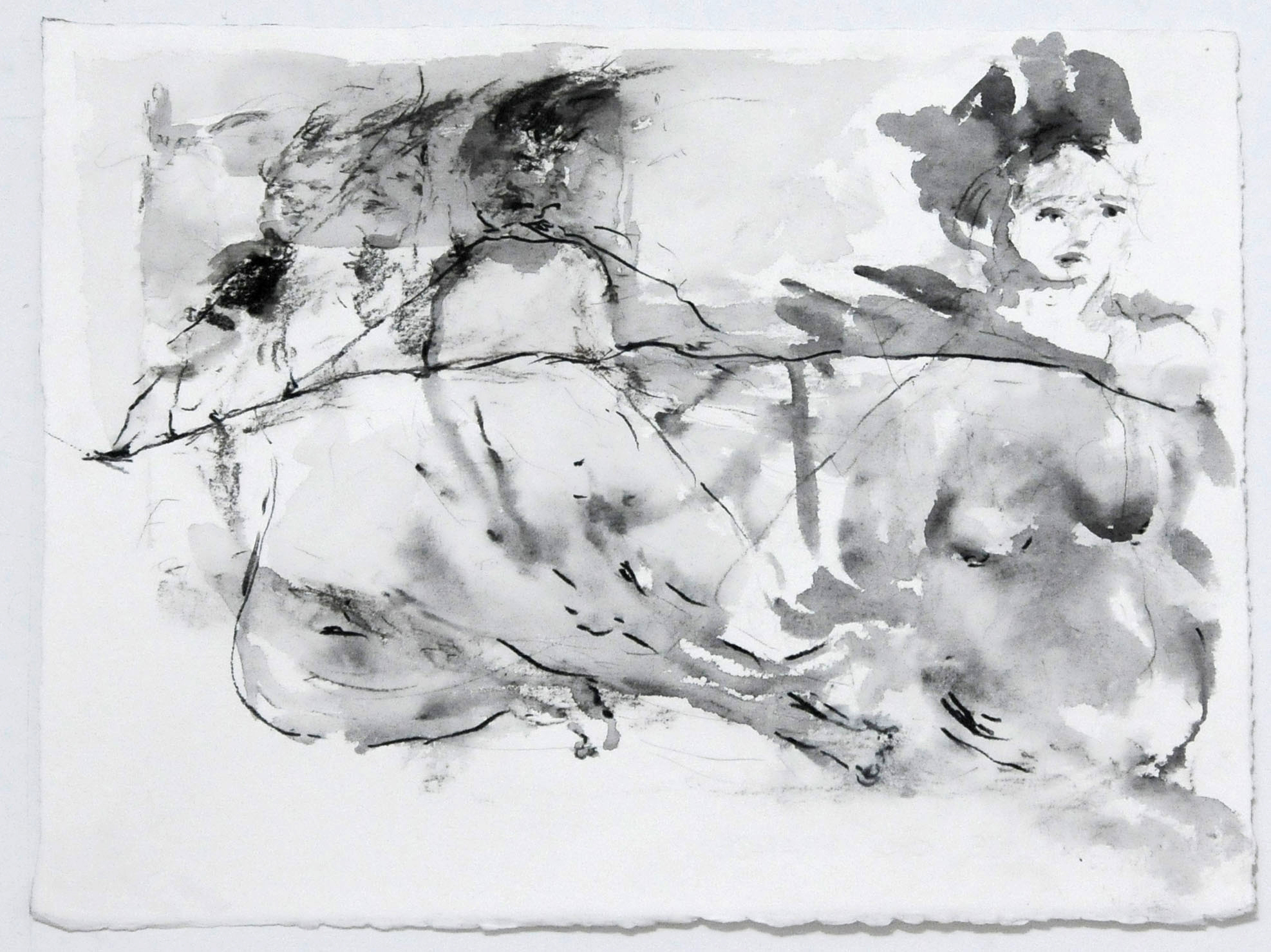 Sarah Creagen, Oh donÔÇÖt worry (loudly), 10 x 14 inches, Graphite and ink on paper, 2015.jpg