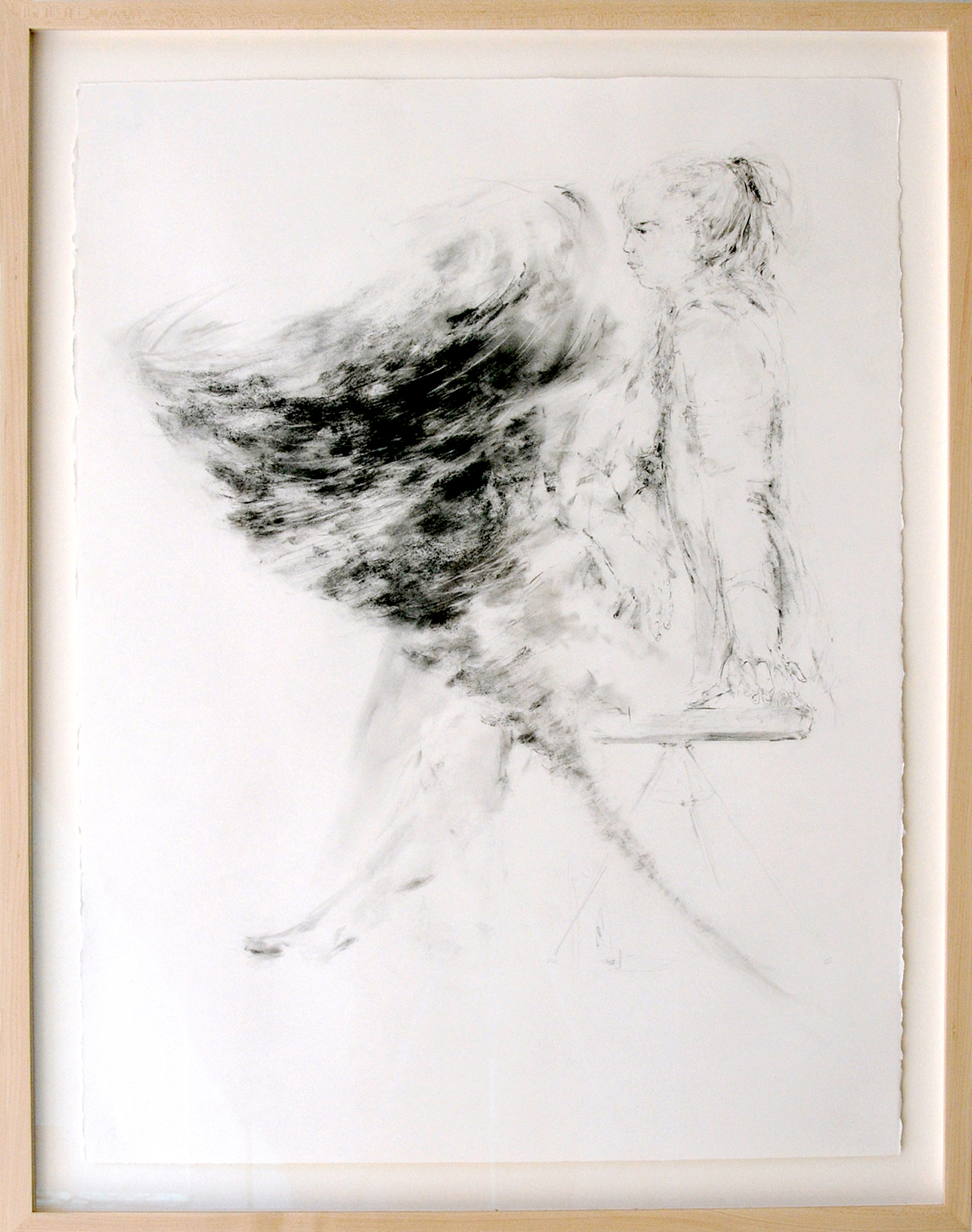 Sarah Creagen, All I Thought About Was Time, 30 x 22 inches, graphite on watercolour paper, 2015.jpeg