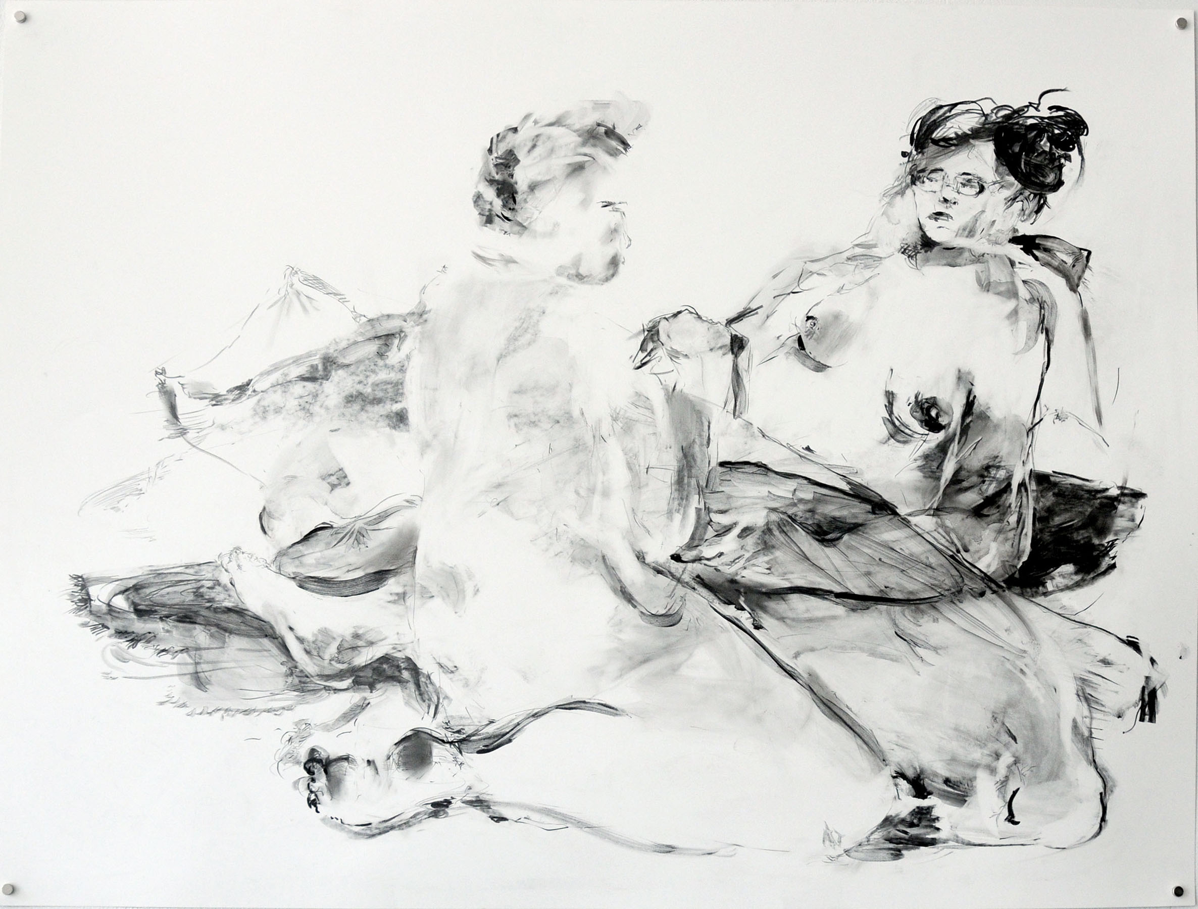Sarah Creagen, Down in the Cave, 20 x 26 inches, graphite on yupo paper, 2015.jpeg