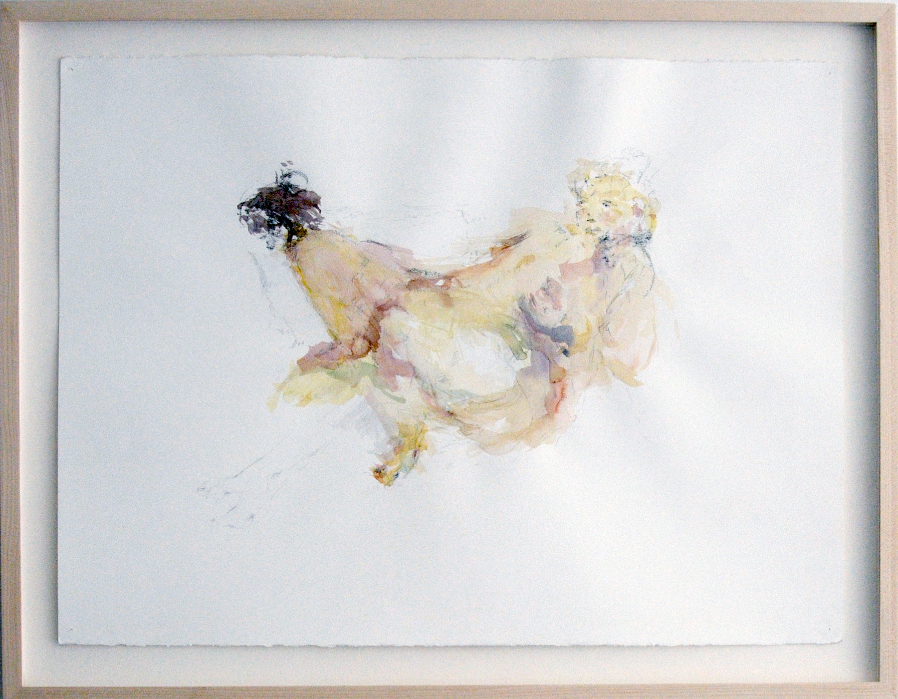 Sarah Creagen, Bodies for a second, 22 x 30 inches, graphite and watercolour on paper, 2015.jpeg