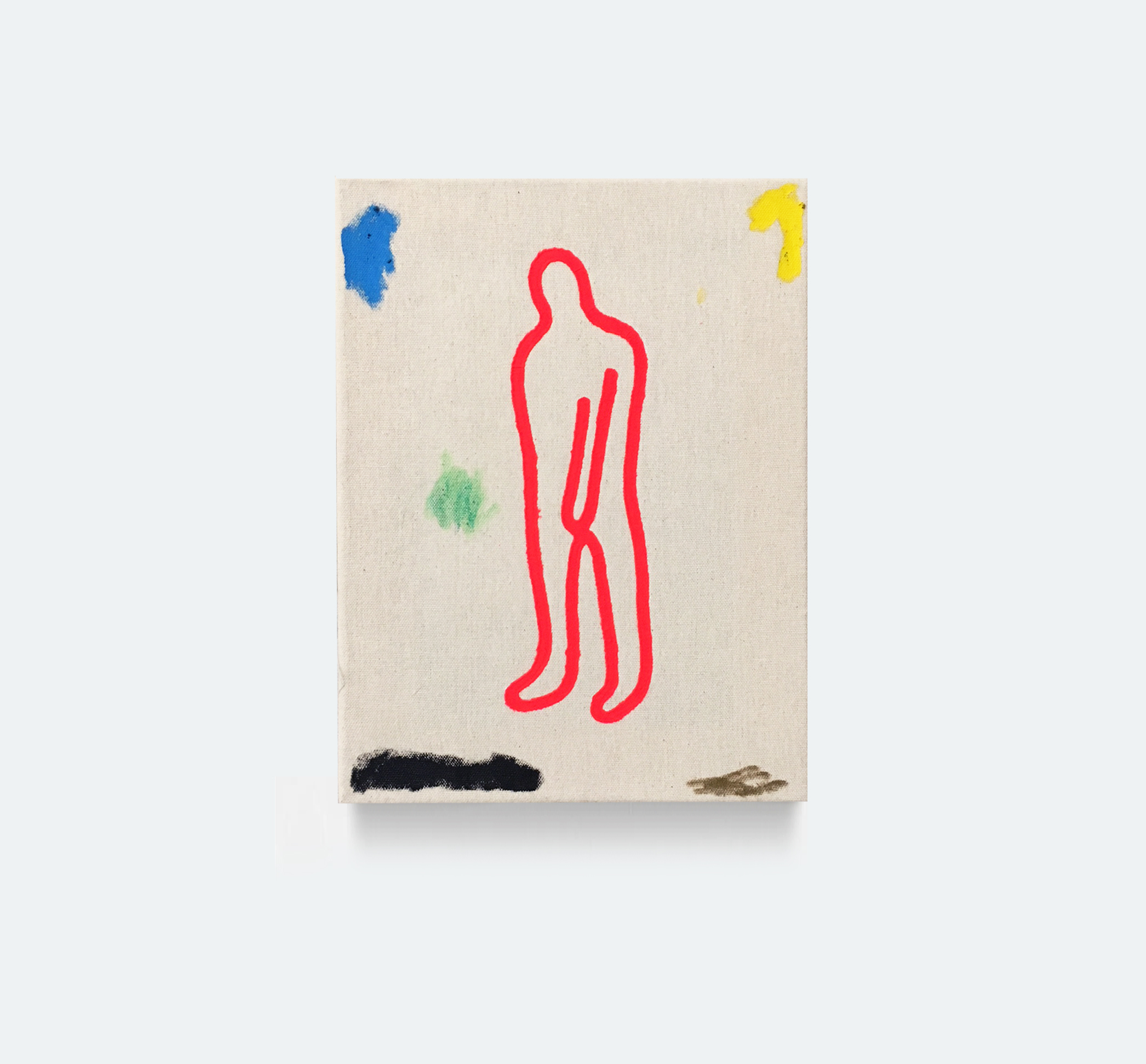 DAN FLANAGAN, Man, 2018, acrylic on canvas, 12 x 9 inches