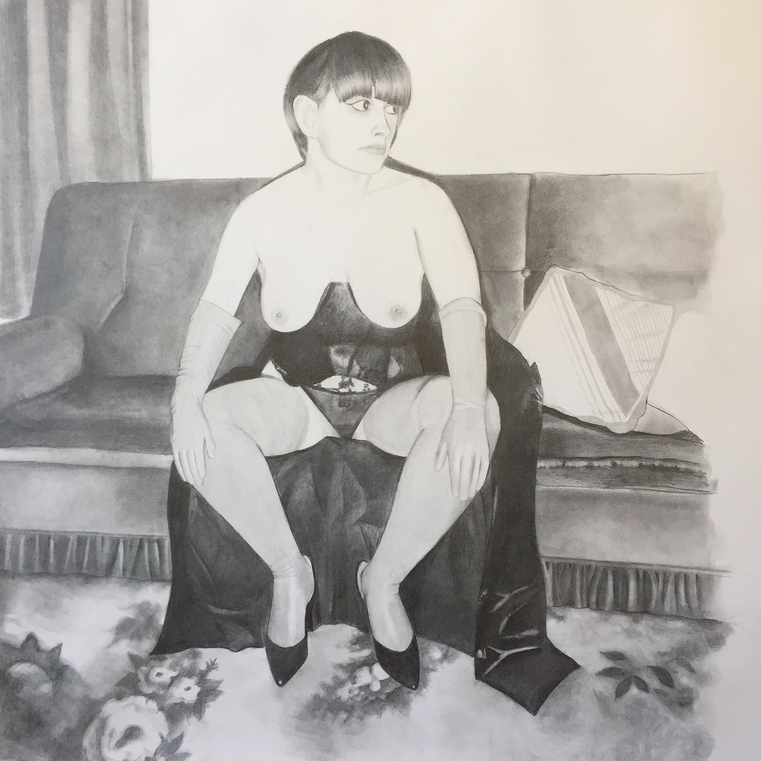 ERICA EYRES, Ursula, 2018, pencil on paper, 32 x 28 inches SOLD