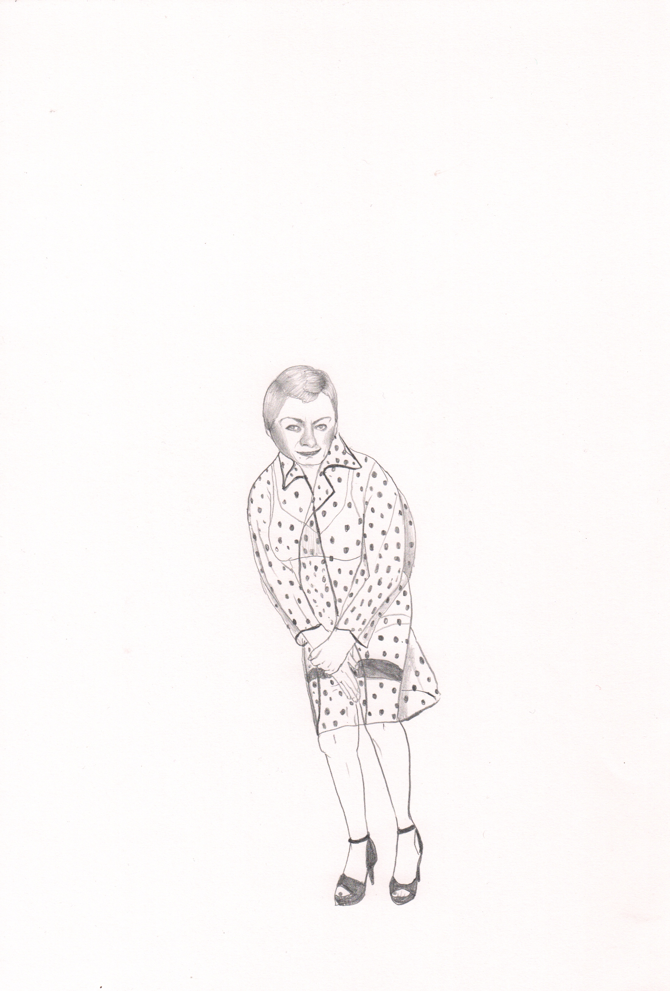 Erica Eyres, PVC Dress, 2018, pencil on paper, 16.5 x 12 inches