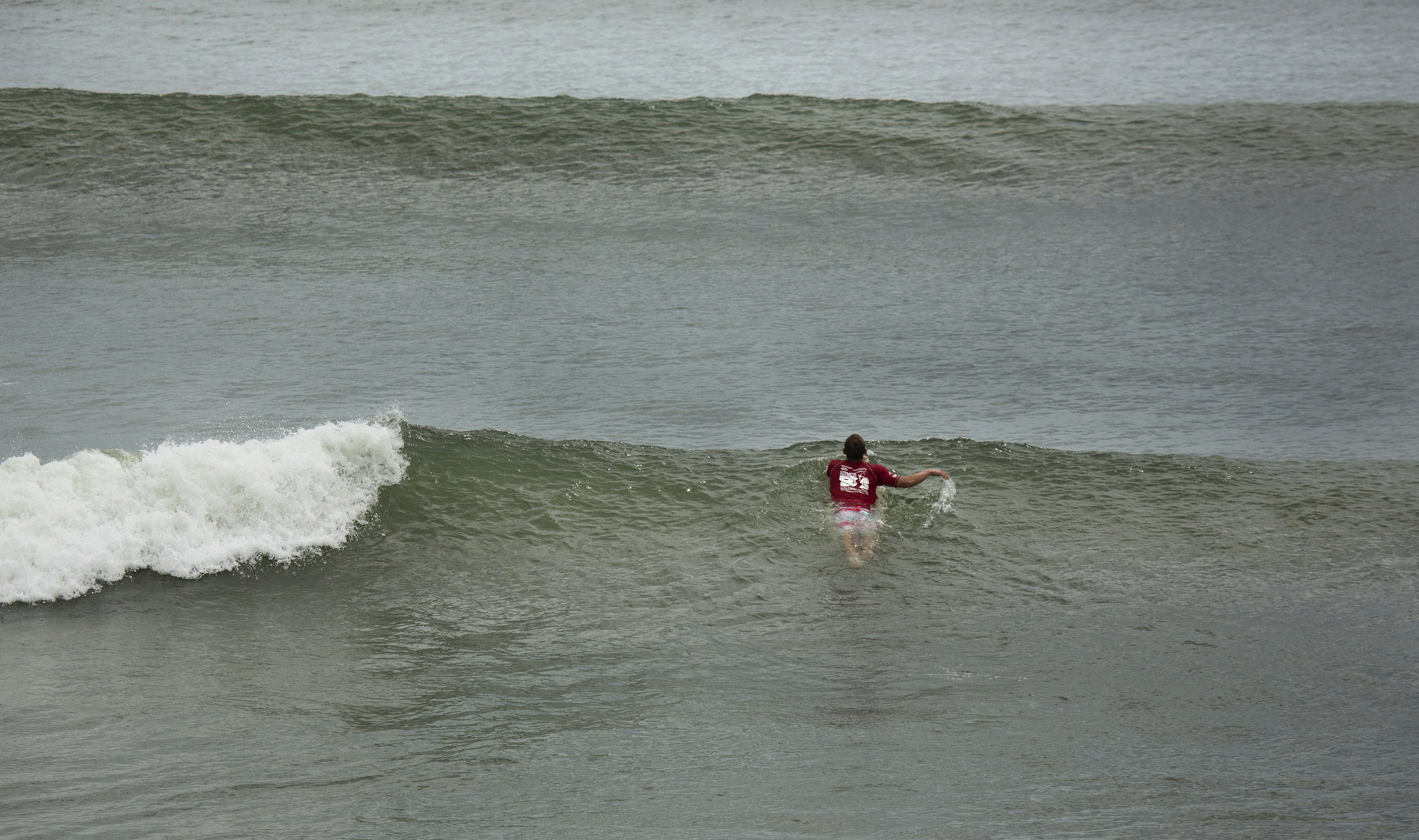 2013, As the tide changes at 1st street in Virginia Beach, Virginia, the afternoon surf begins to improve during Coastal Edge East Coast Surfing Championships.
