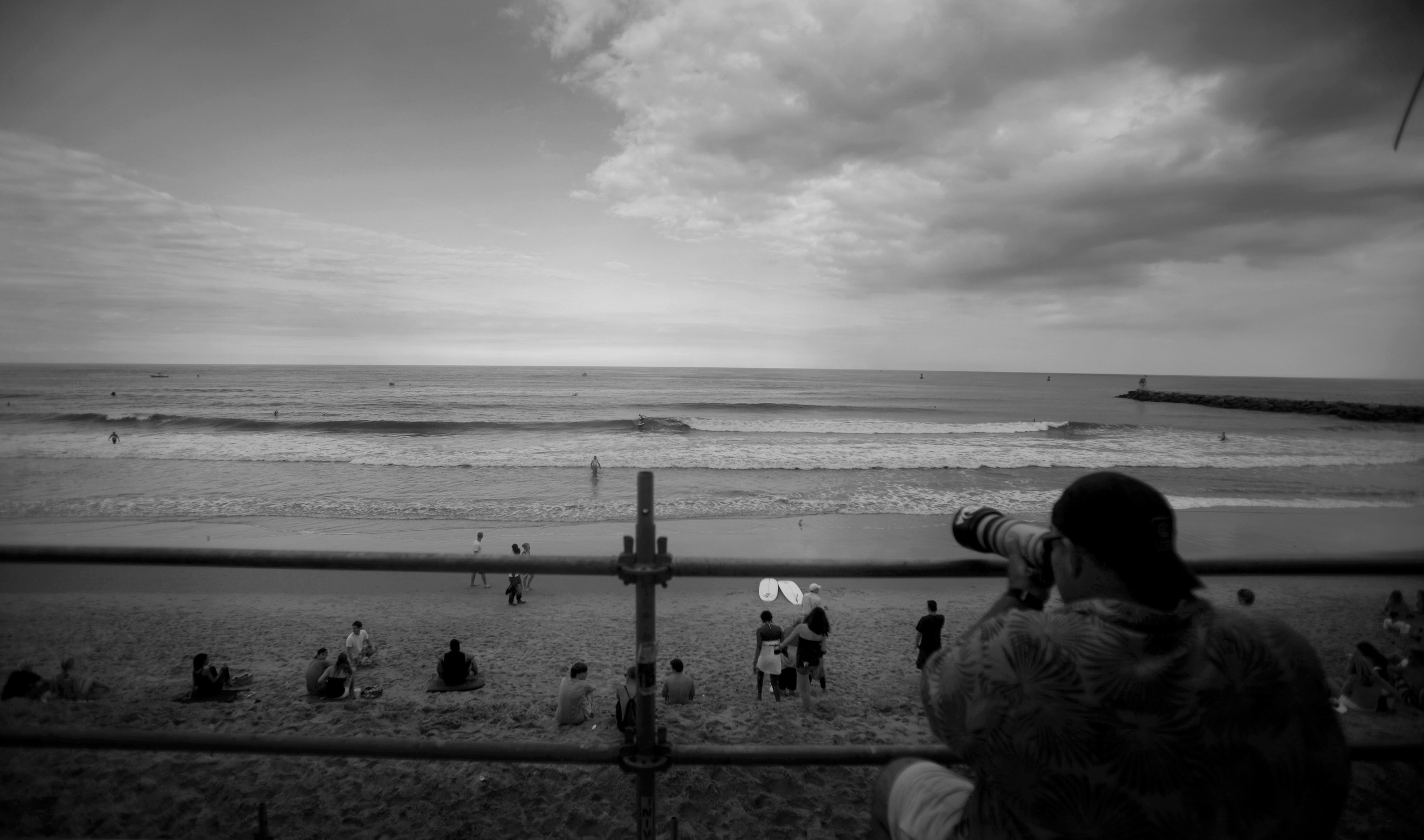2010, Paul West working his camera from the judges scuffling during the ECSC.