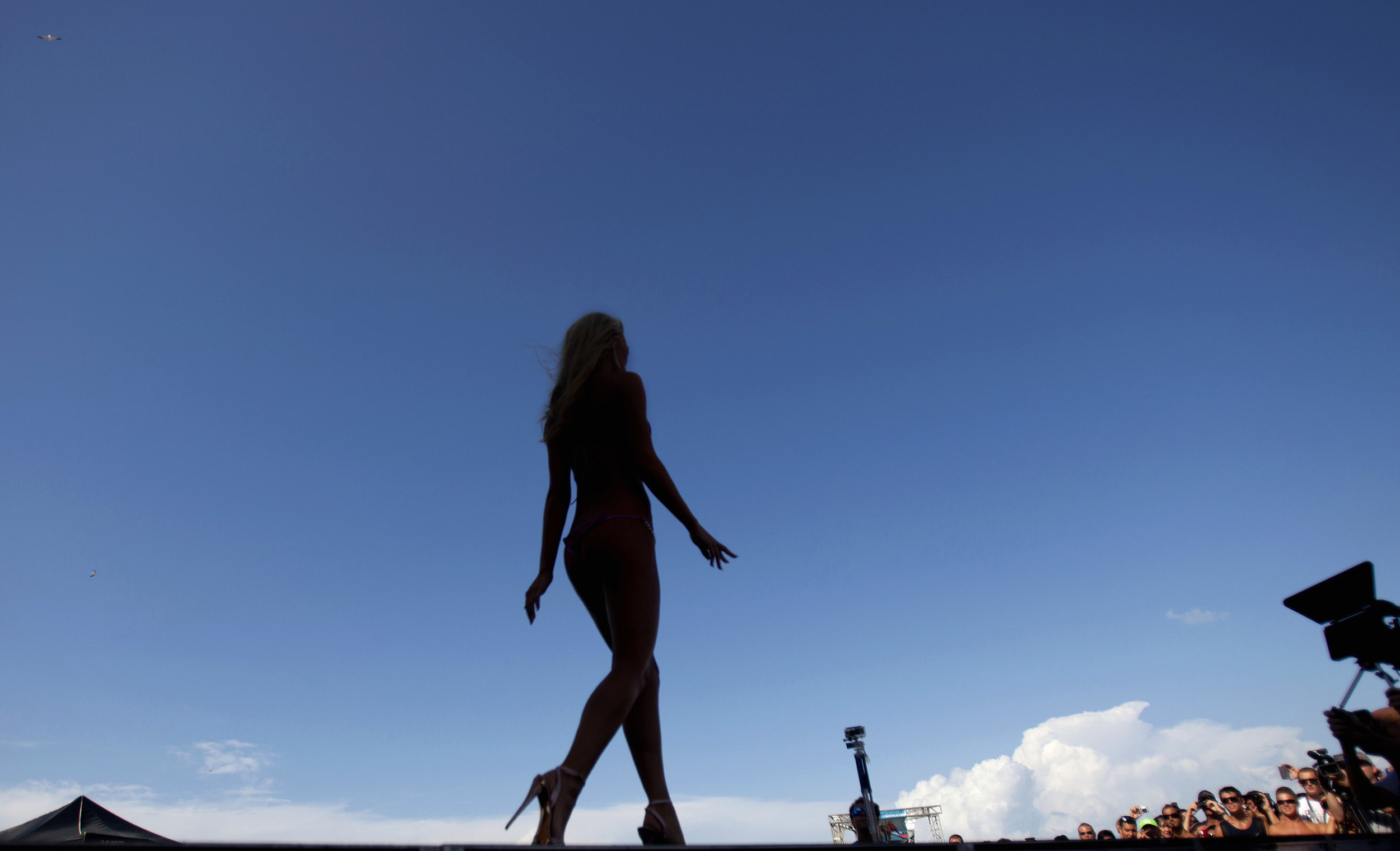 2012, Crowd gathers to watch the Miss Coastal Edge ECSC Swimsuit Pageant.