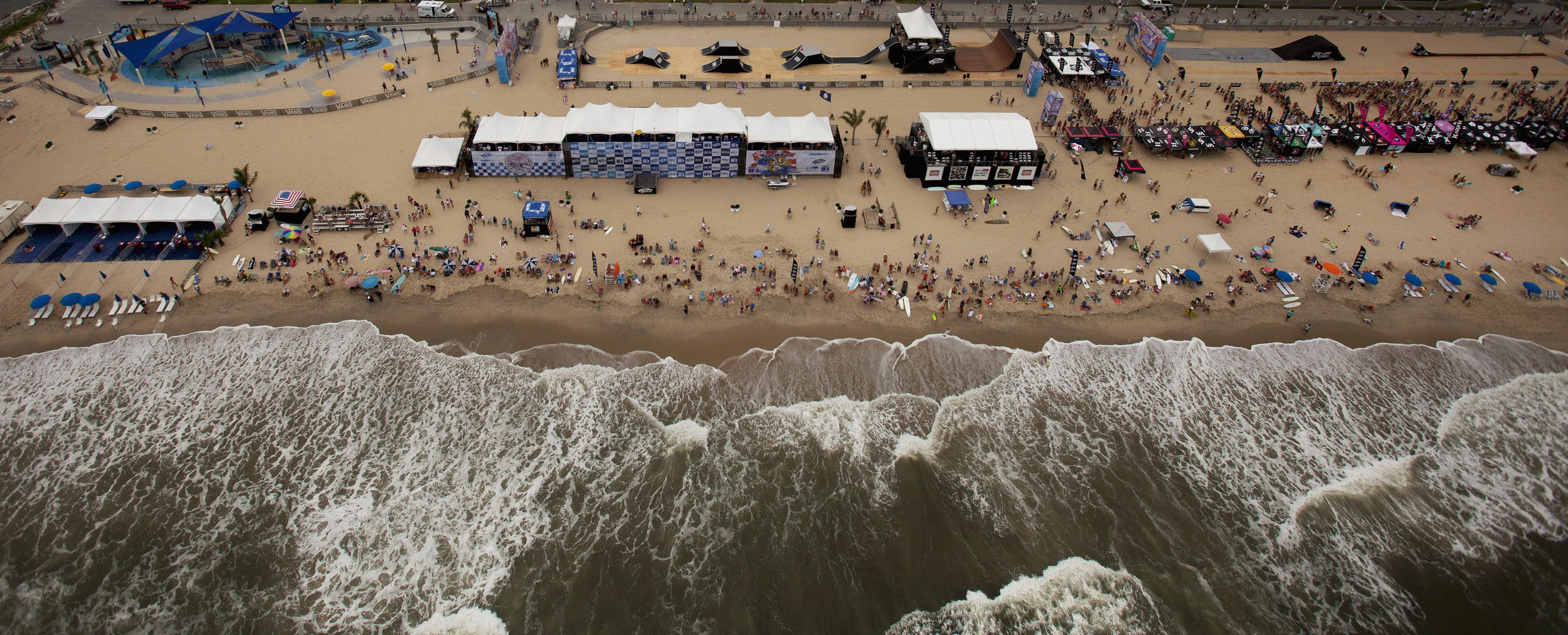 2012, Aerial photo of The 50th Coastal Edge East Coast Surfing Championships