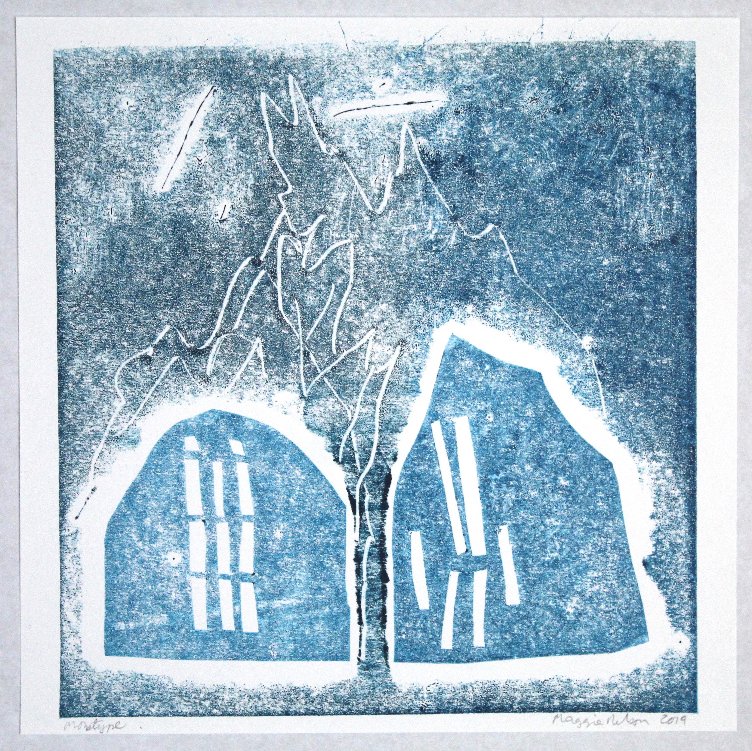 """Monotype Series """"Little Barn"""""""