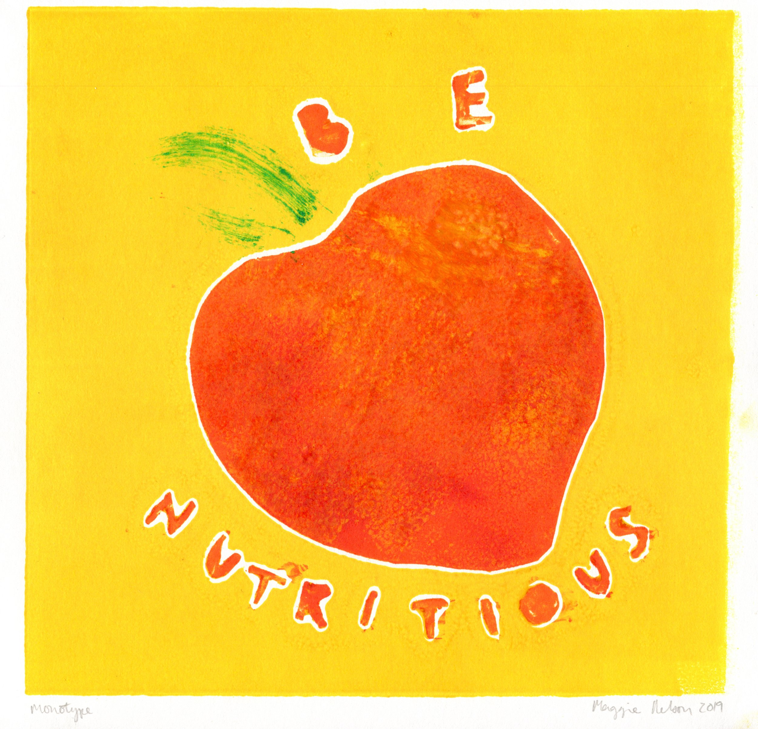 """Monotype Series """"Be Nutritious"""""""