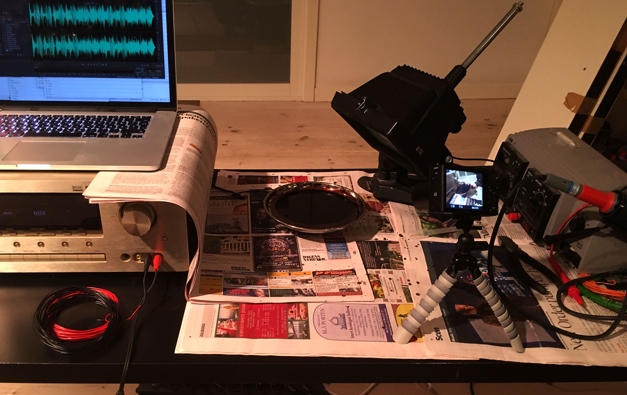 Experimental setup. Sony RX-100 IV capture in HFR mode.