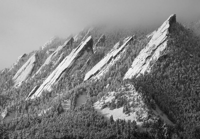 Flatiron Winter Fog by  Mike Barton Photography