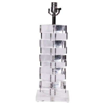 Modern Stacked Lucite Lamp, $275, via  1st Dibs