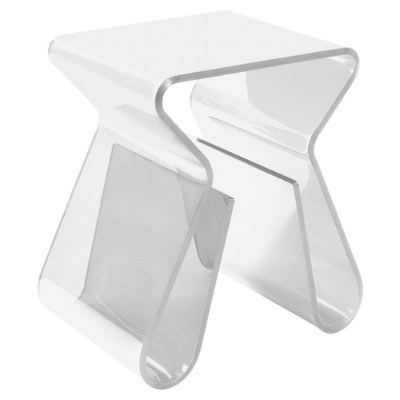 Acrylic Side Table + Magazine Holder, $130, from  Wayfair